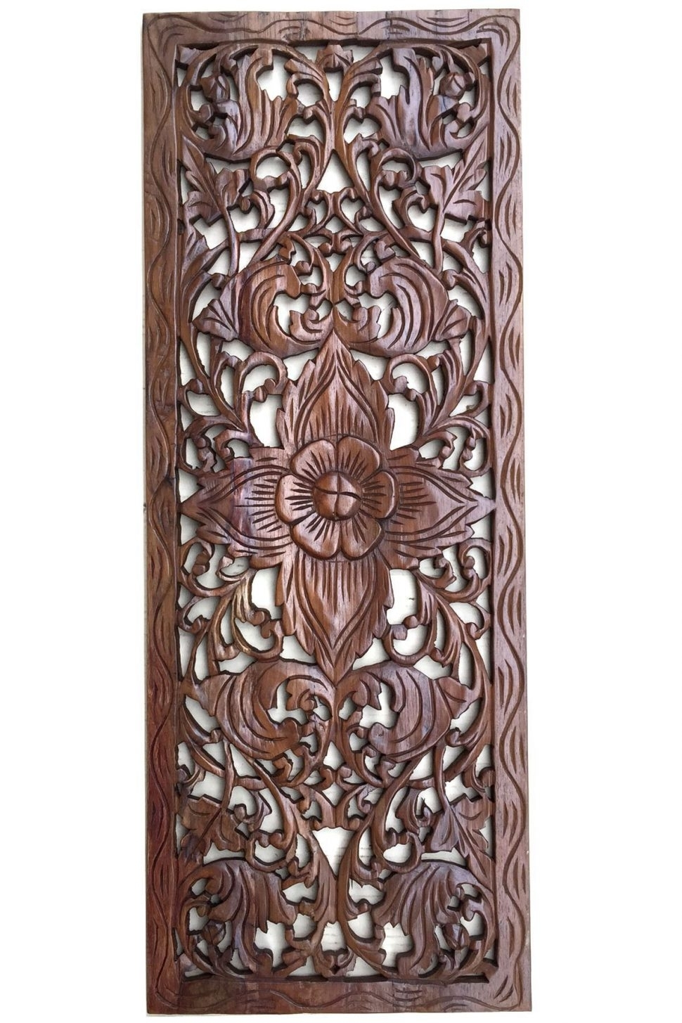 Carved Wood Wall Art India Interior Carved Wood Wall Decor White intended for Carved Wood Wall Art (Image 7 of 20)