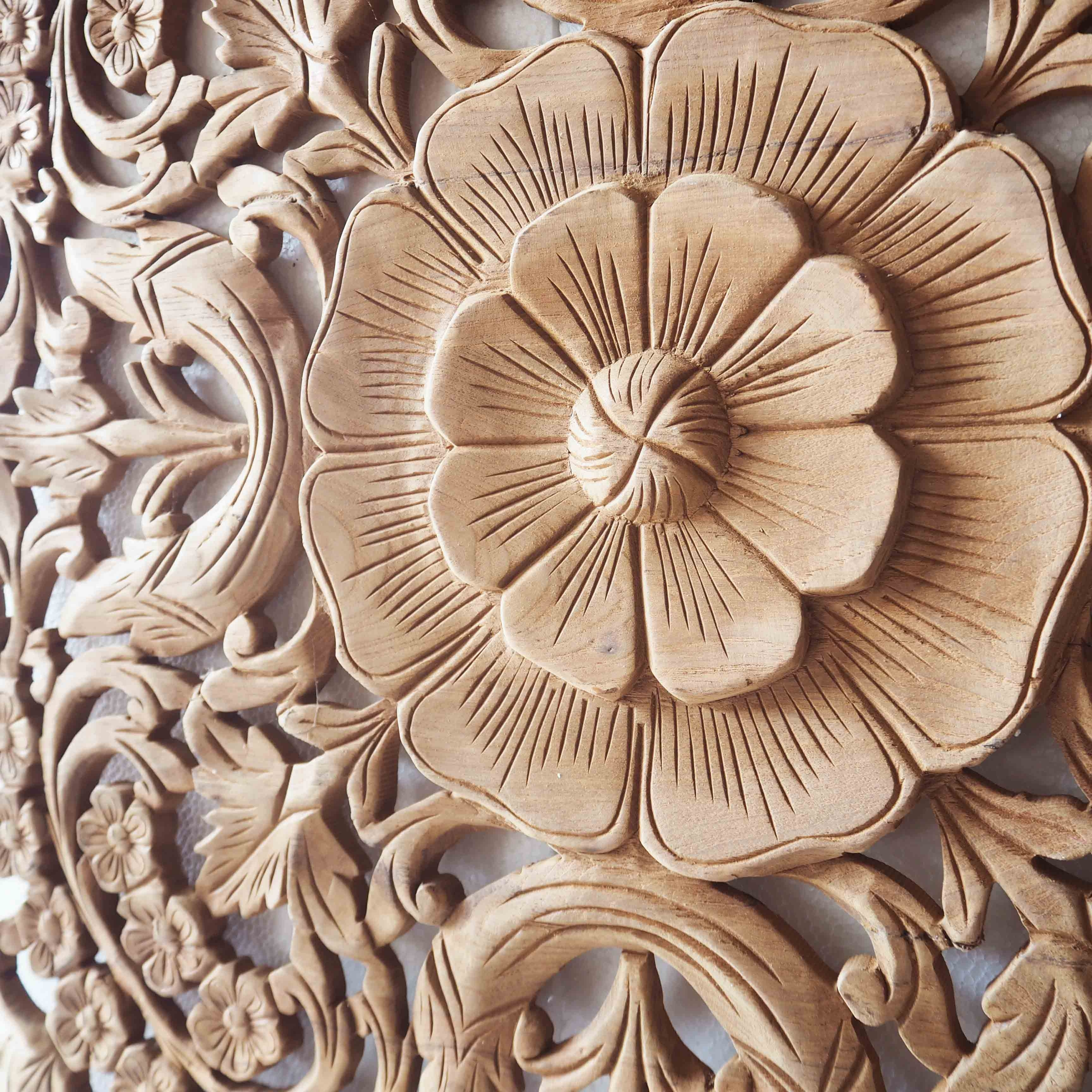 Carving-Wall-Decor-Carved-Wood-Wall-Art-Panel-Wall-Hanging-Teak regarding Carved Wood Wall Art (Image 10 of 20)