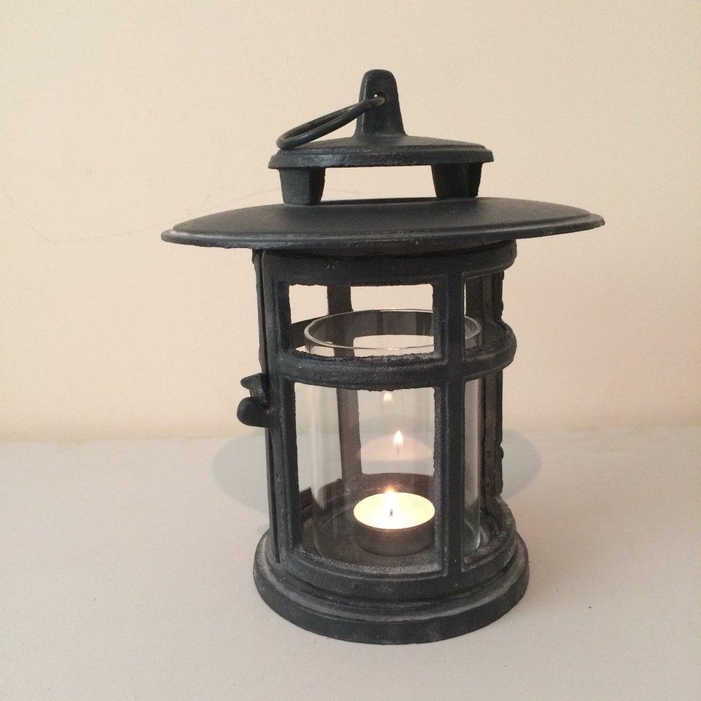 Cast Iron Japanese Style Round Lantern From Ruddick Garden Gifts in Outdoor Round Lanterns (Image 3 of 20)