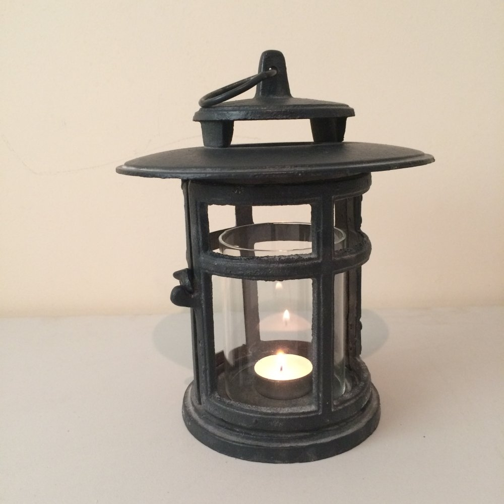 Cast Iron Japanese Style Round Lantern From Ruddick Garden Gifts regarding Outdoor Cast Iron Lanterns (Image 3 of 20)