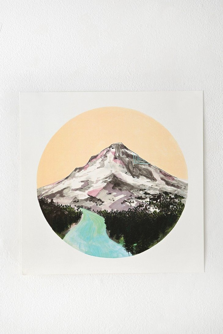 Cathy Mcmurray Mountain Print Urban Outfitters Wild, Urban throughout Urban Outfitters Wall Art (Image 5 of 20)