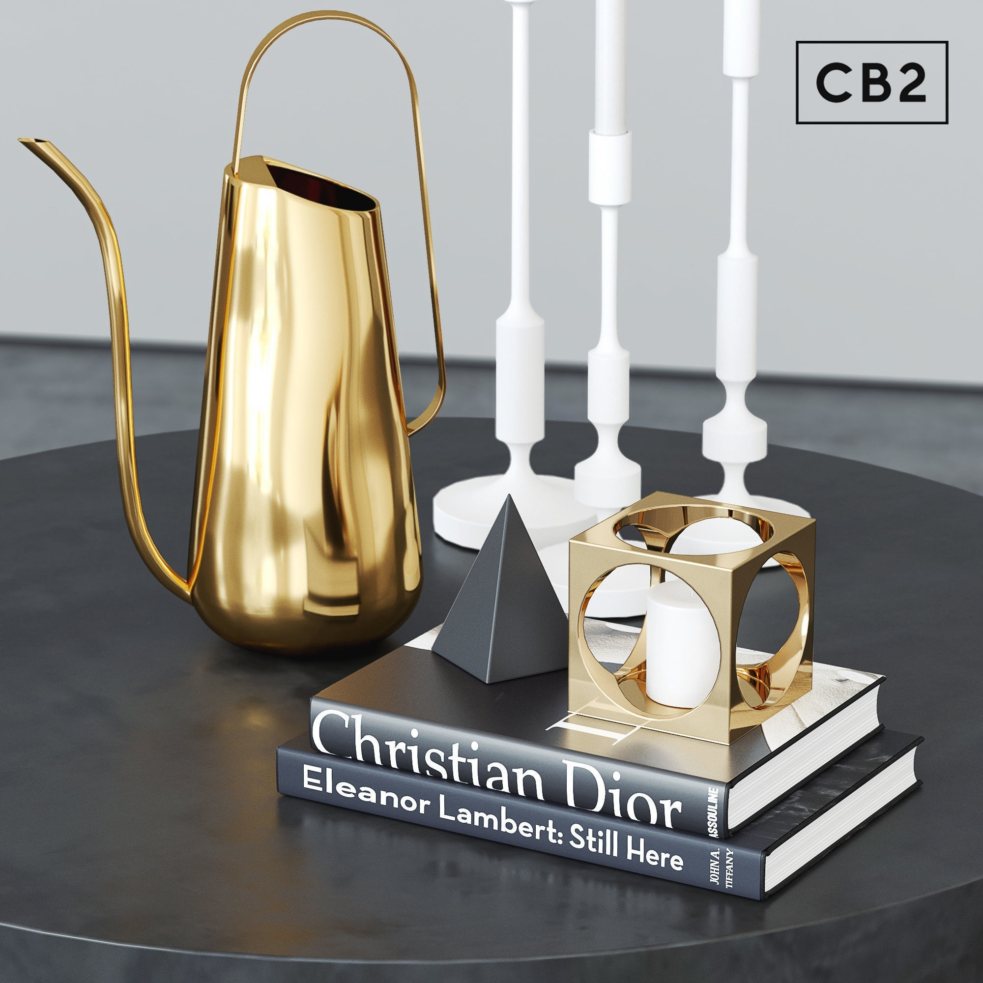 Cb2 Darbuka Brass Coffee Table 3D | Cgtrader intended for Darbuka Black Coffee Tables (Image 5 of 30)