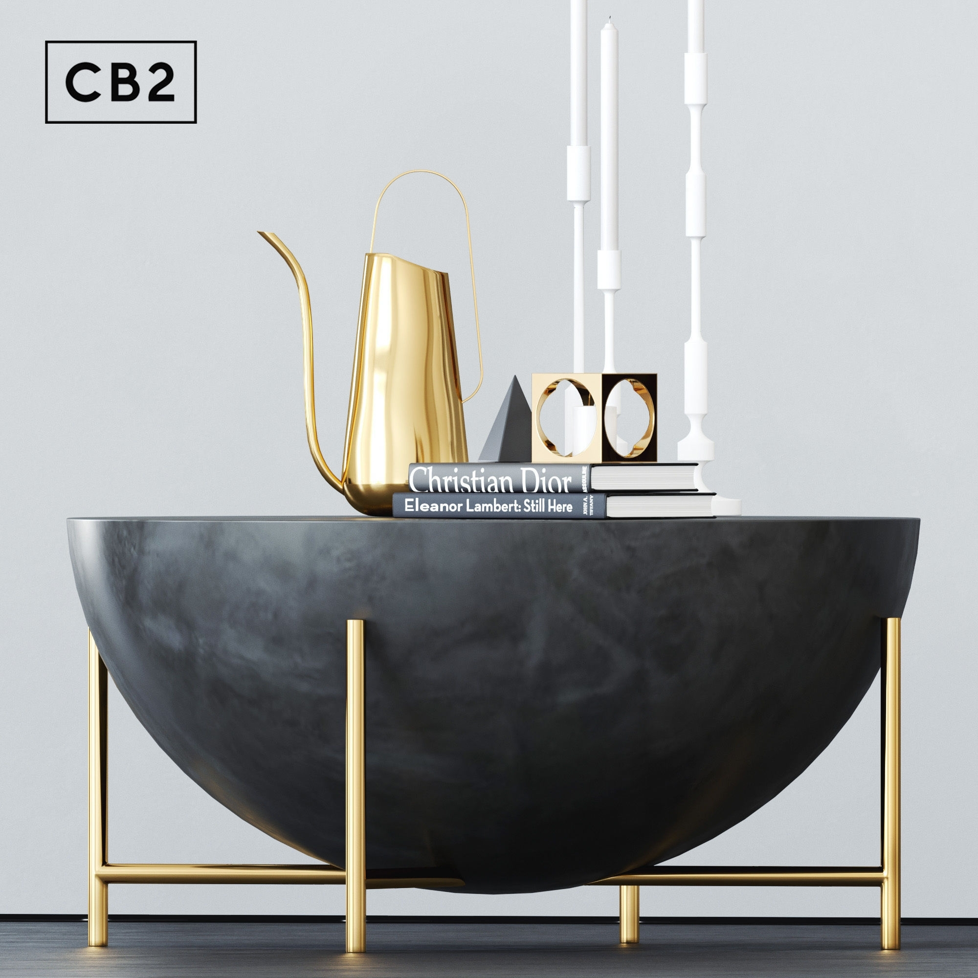 Cb2 Darbuka Brass Coffee Table 3D | Cgtrader pertaining to Darbuka Black Coffee Tables (Image 6 of 30)