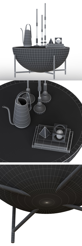 Cb2 Darbuka Brass Coffee Table 3D | Cgtrader regarding Darbuka Black Coffee Tables (Image 7 of 30)