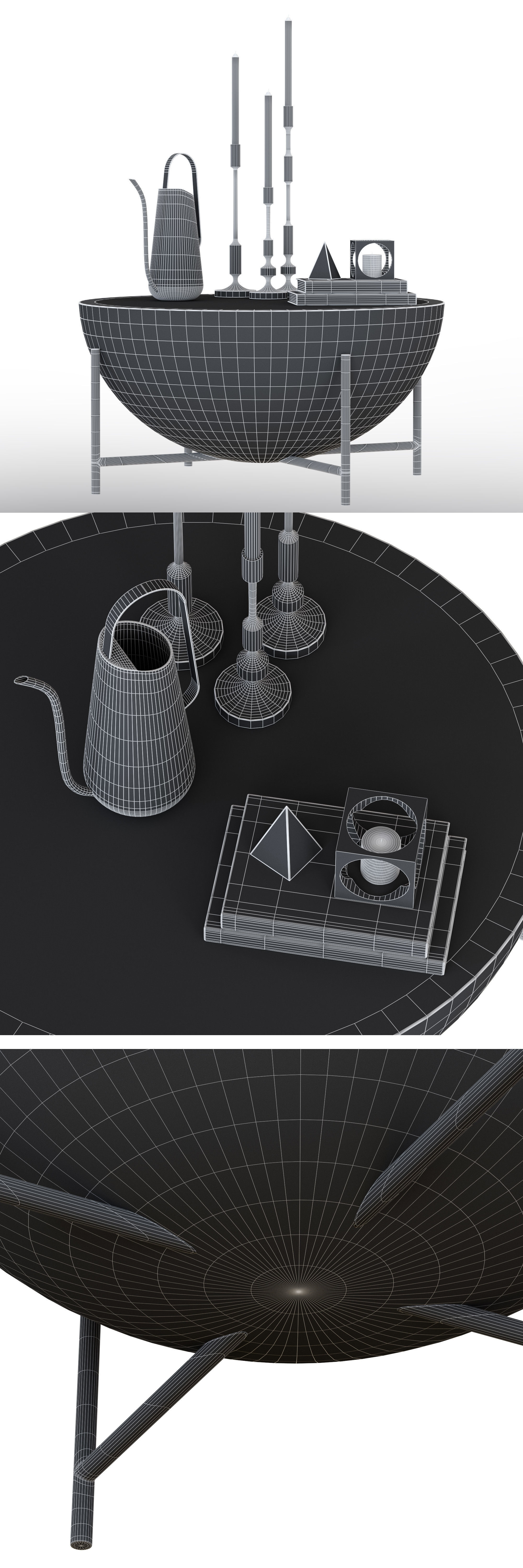 Cb2 Darbuka Brass Coffee Table 3d | Cgtrader Throughout Darbuka Brass Coffee Tables (View 10 of 30)