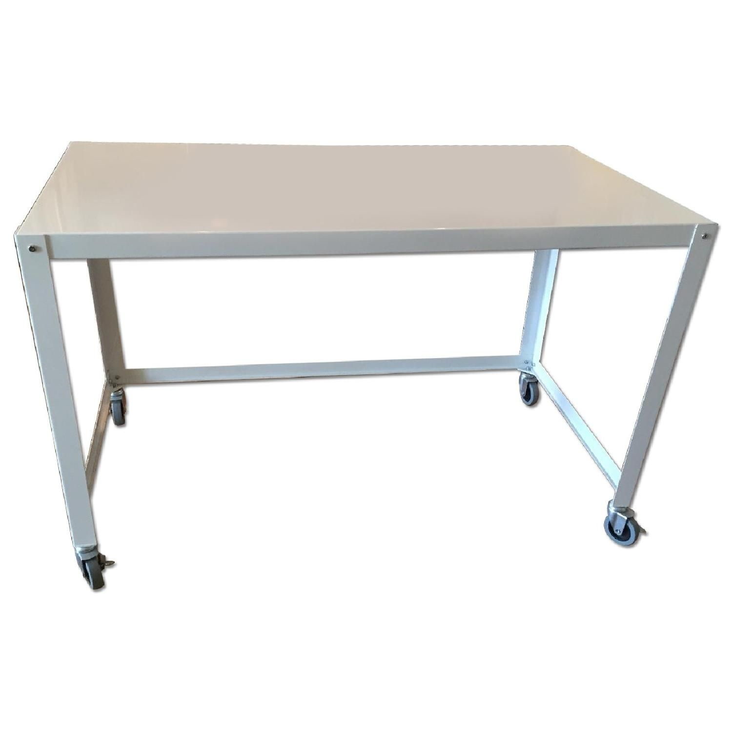 Cb2 Go-Cart White Rolling Desk | Lic Kids | Pinterest | Rolling Desk regarding Go-Cart White Rolling Coffee Tables (Image 8 of 30)
