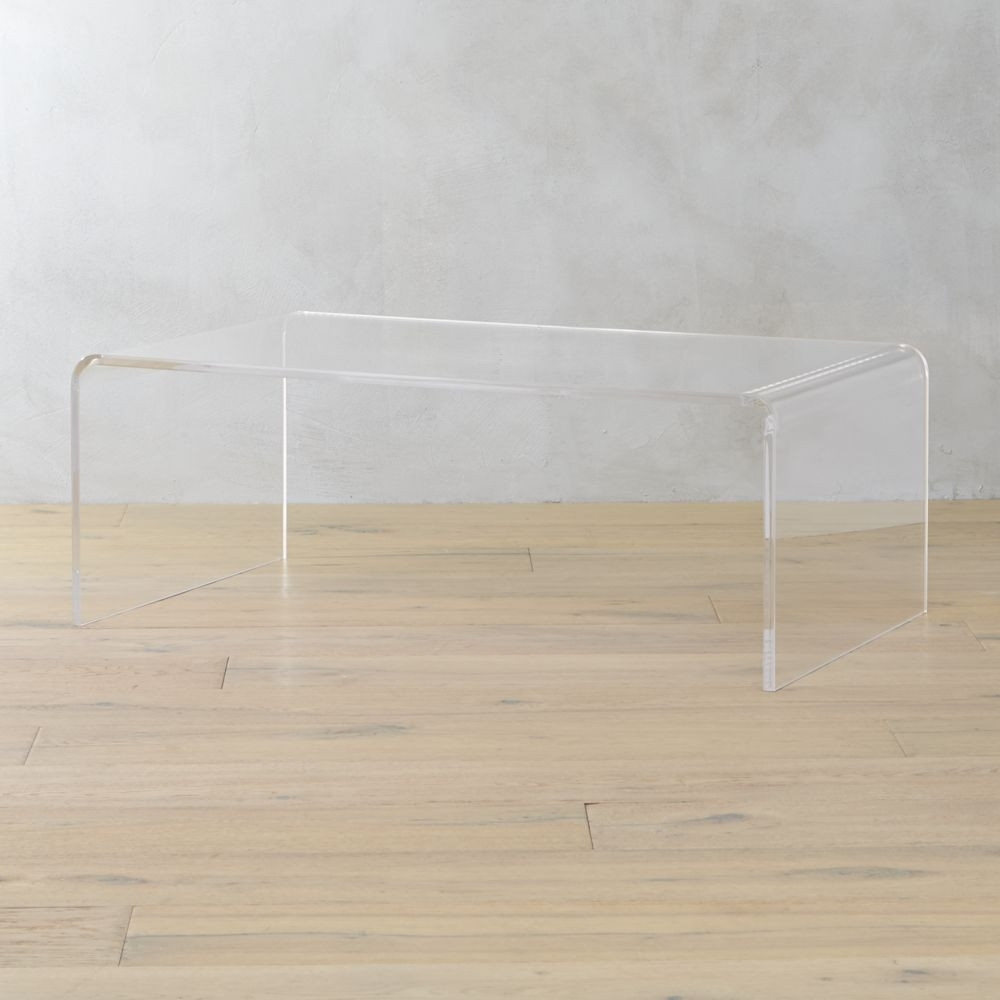 Cb2 Peekaboo Acrylic Coffee Table | Domino with Peekaboo Acrylic Coffee Tables (Image 12 of 30)