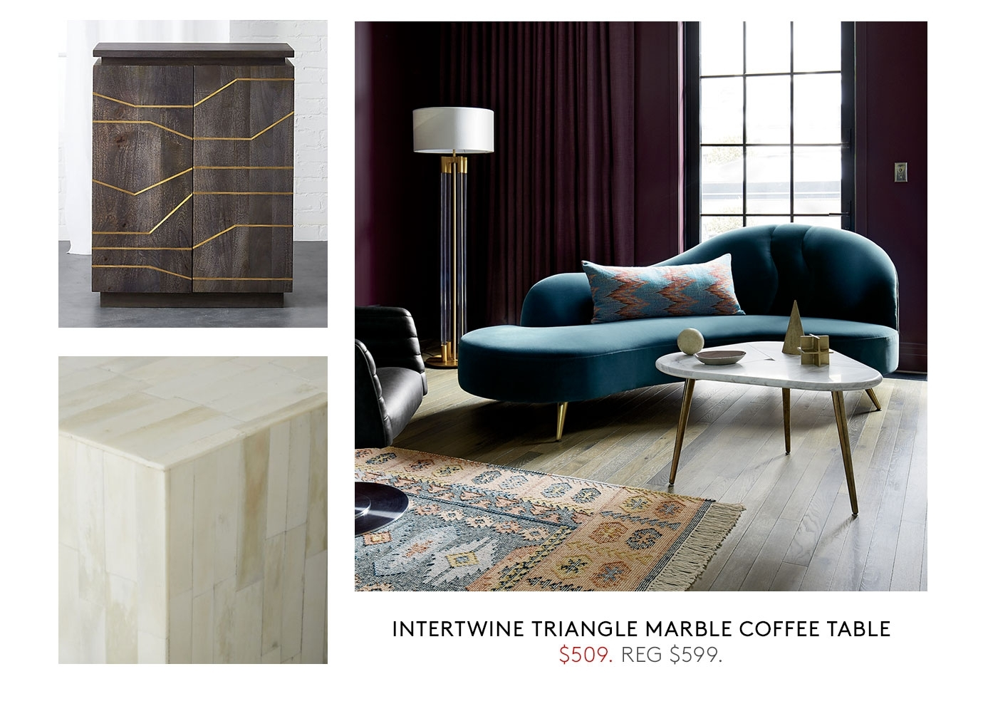 Cb2: Up To 20% Off Accent Table Sale Ends Today. | Milled regarding Intertwine Triangle Marble Coffee Tables (Image 9 of 30)