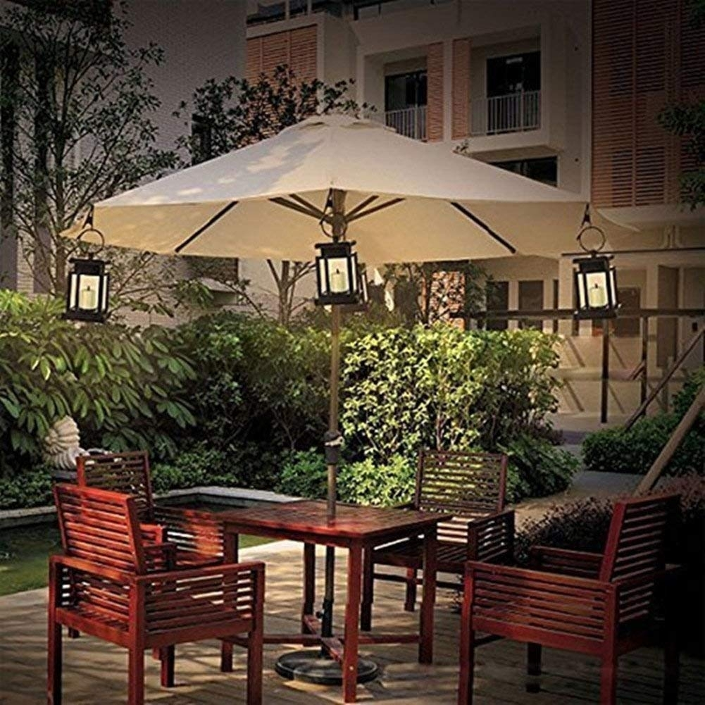 Cdq Vintage Solar Umbrella Lights, Outdoor Led Umbrella Lantern Hang Inside Outdoor Umbrella Lanterns (View 4 of 20)