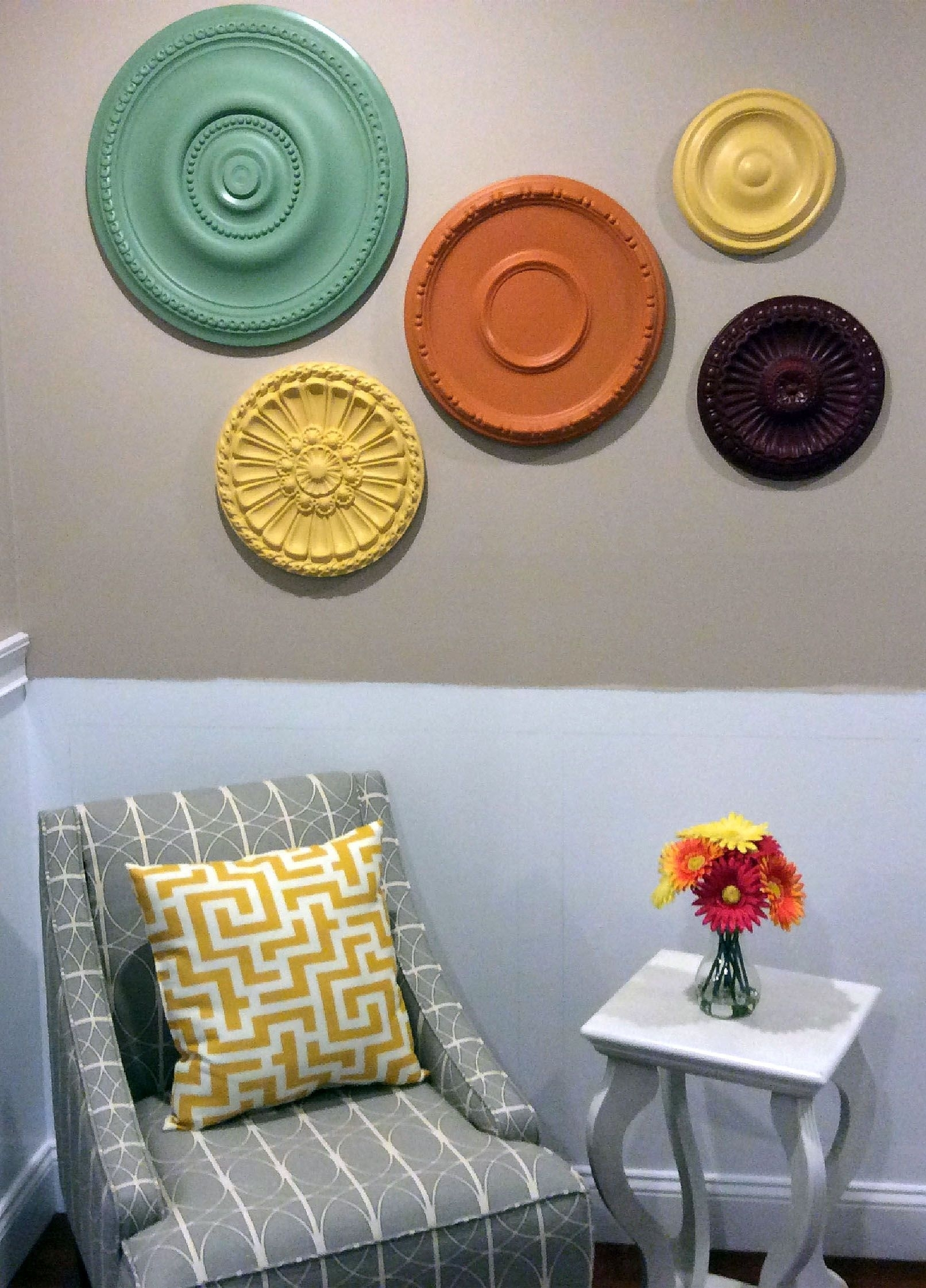 Ceiling Medallion Wall Art. Perfect For Decorating Small Spaces And with regard to Ceiling Medallion Wall Art (Image 9 of 20)