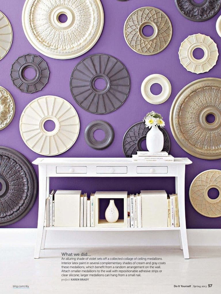 Ceiling Medallions As Wall Art | I Wanna Make That! | Pinterest inside Ceiling Medallion Wall Art (Image 10 of 20)