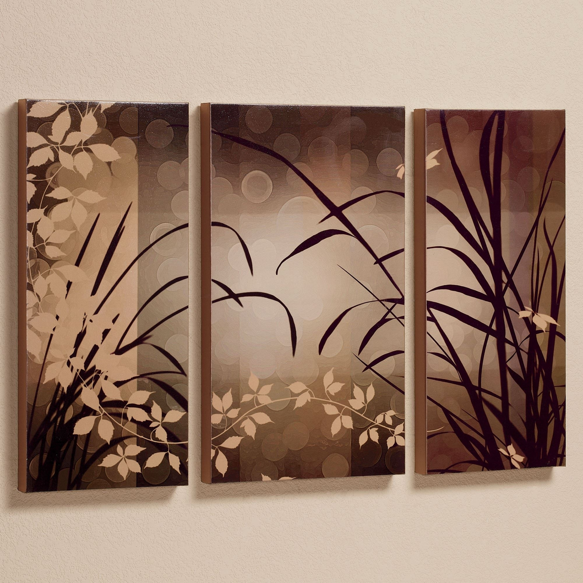 Celebrate Elegance Triptych Canvas Wall Art Set inside Canvas Wall Art (Image 10 of 20)