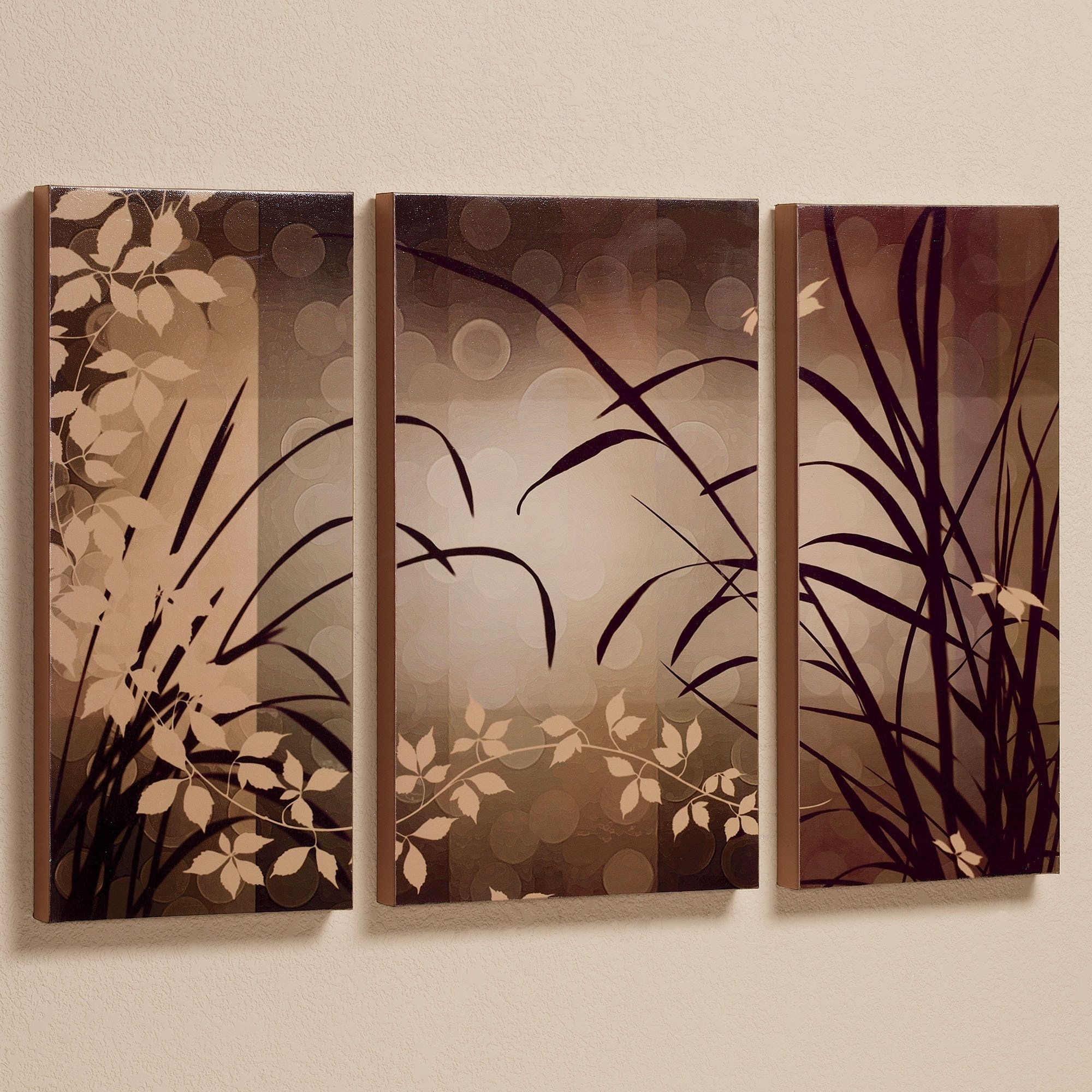 Celebrate Elegance Triptych Canvas Wall Art Set | Painting Ideas With Regard To Wall Canvas Art (View 14 of 20)