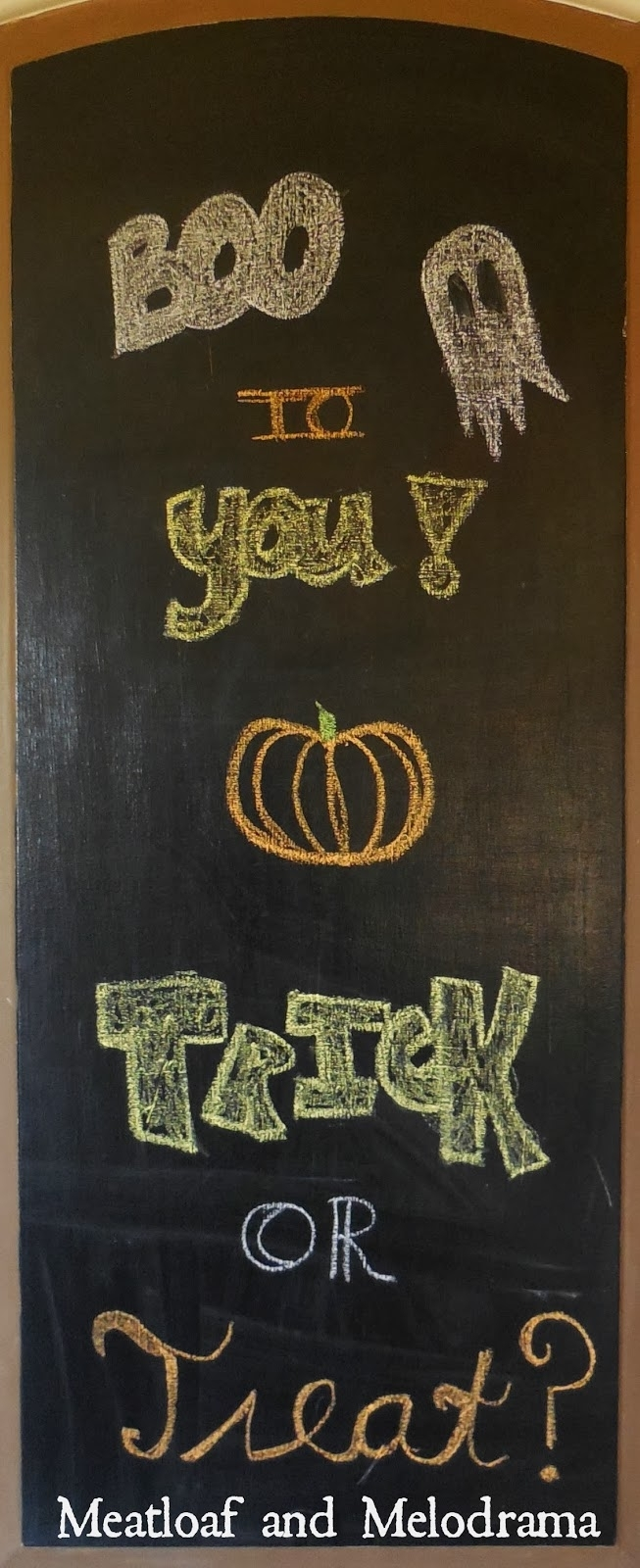 Chalkboard Paint And Wall Art - Meatloaf And Melodrama intended for Chalkboard Wall Art (Image 5 of 20)