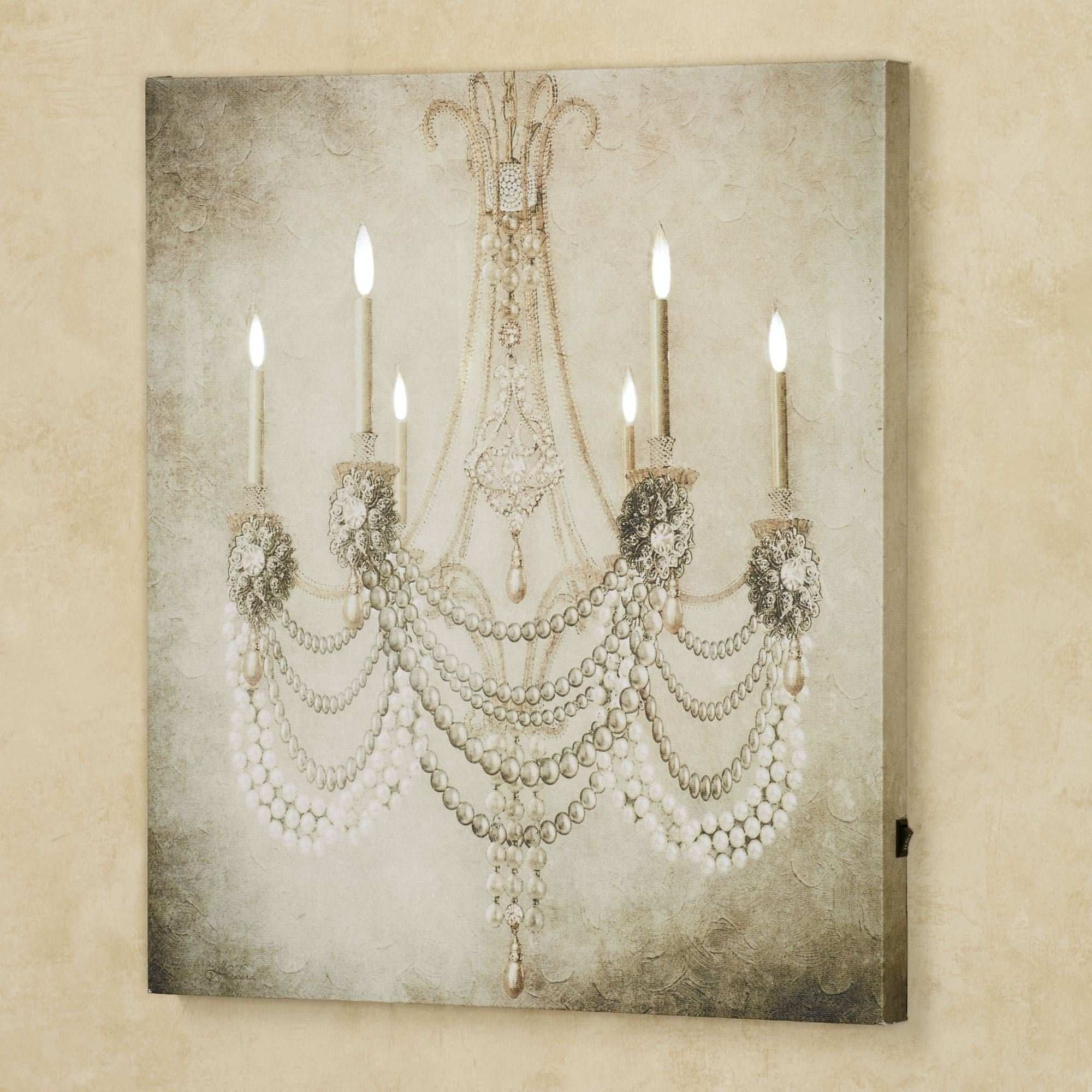 Chandelier Canvas Painting Unique Vintage Chandelier Led Lighted With Regard To Chandelier Wall Art (View 4 of 20)