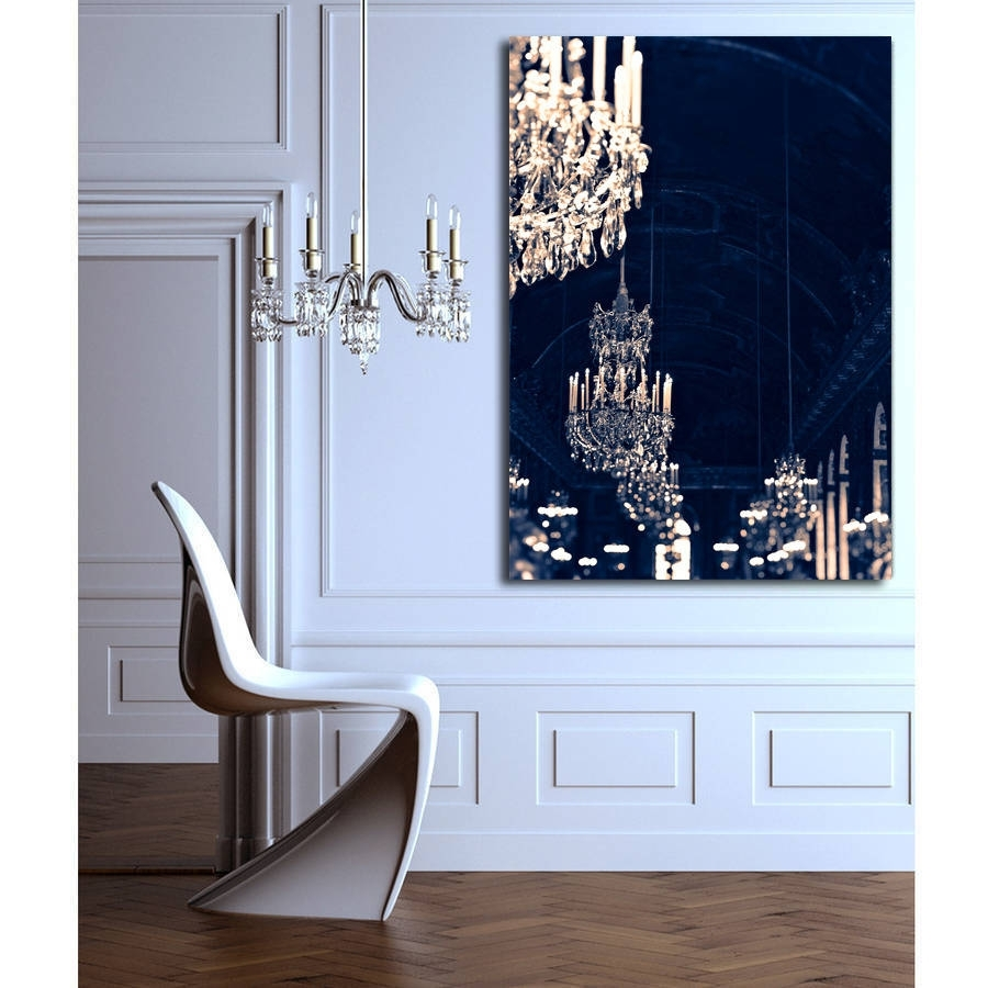 Chandelier Print Canvas Wall Artruby And B | Notonthehighstreet Pertaining To Chandelier Wall Art (View 5 of 20)