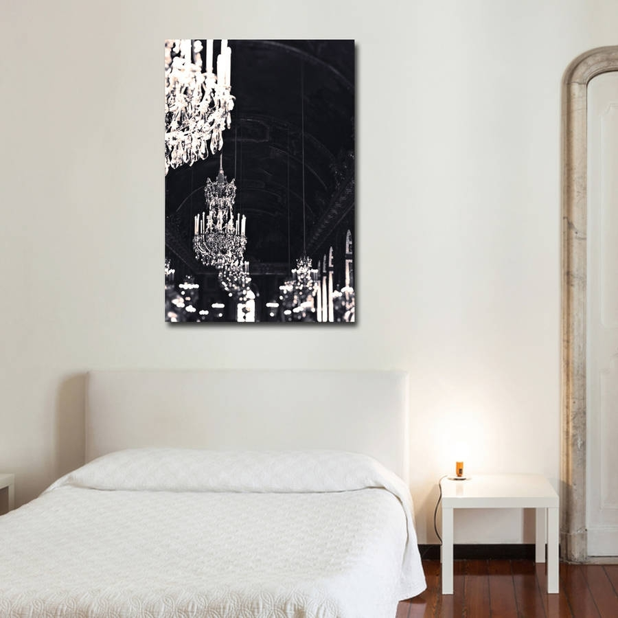 Chandelier Print Canvas Wall Artruby And B | Notonthehighstreet With Wall Canvas Art (View 13 of 20)