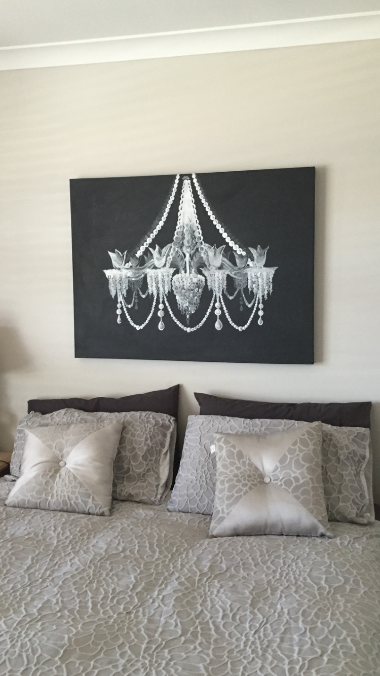 Chandelier Wall Art Inspirational I Painted A Black And White Regarding Chandelier Wall Art (View 6 of 20)