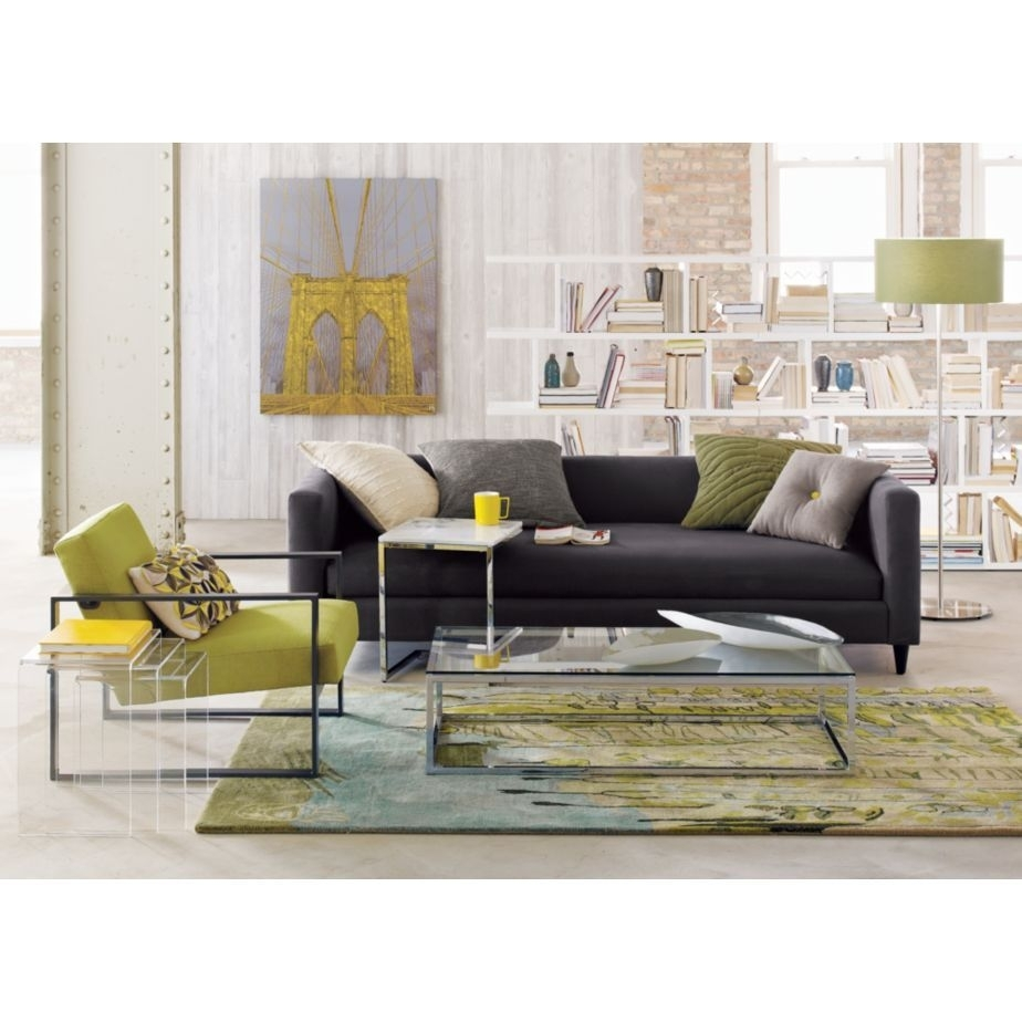 Charcoal Sofa With My Favorite Colors | Home Sweet Home 2 In Smart Glass Top Coffee Tables (View 11 of 30)