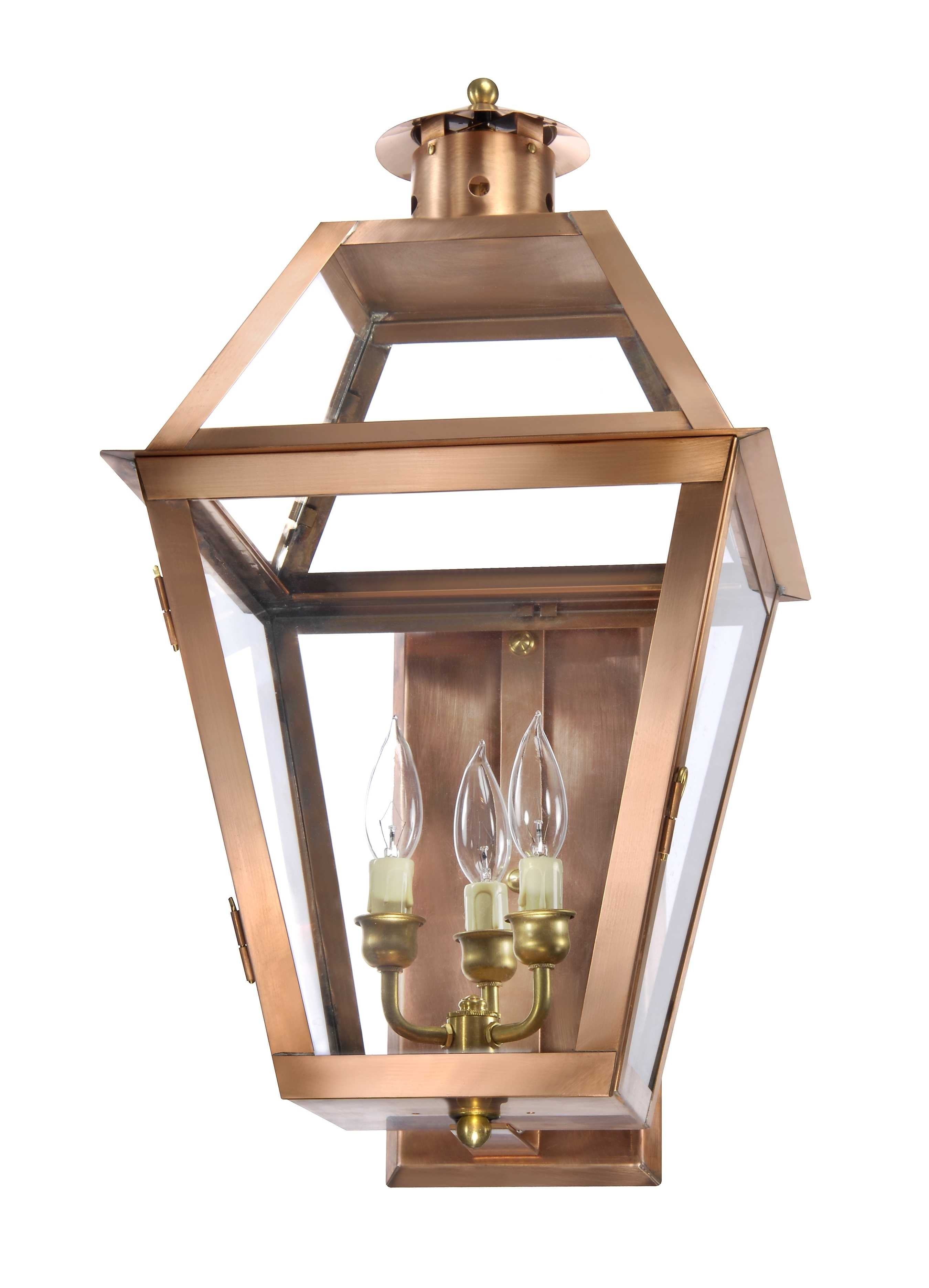 Charleston Collection | Ch-22 Copper Wall Lantern – Lantern & Scroll inside Outdoor Lanterns Without Glass (Image 7 of 20)