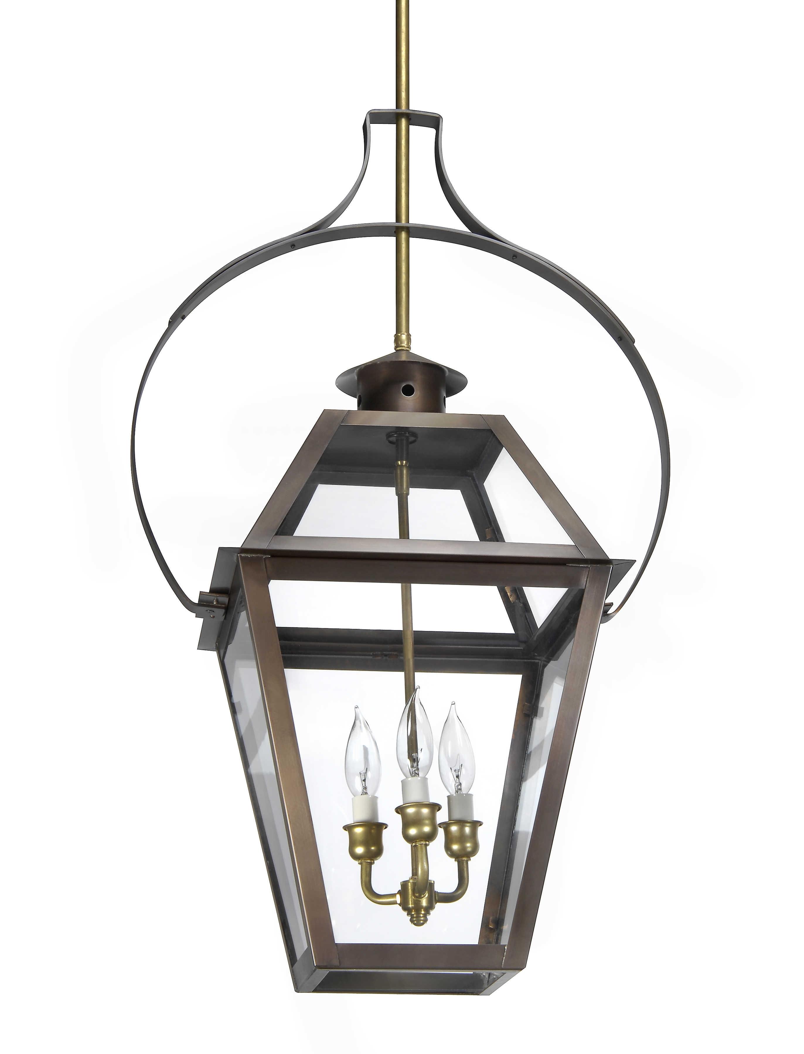 Charleston Collection | Ch 23 Hanging Yoke Light– Lantern & Scroll Throughout Outdoor Electric Lanterns (View 3 of 20)