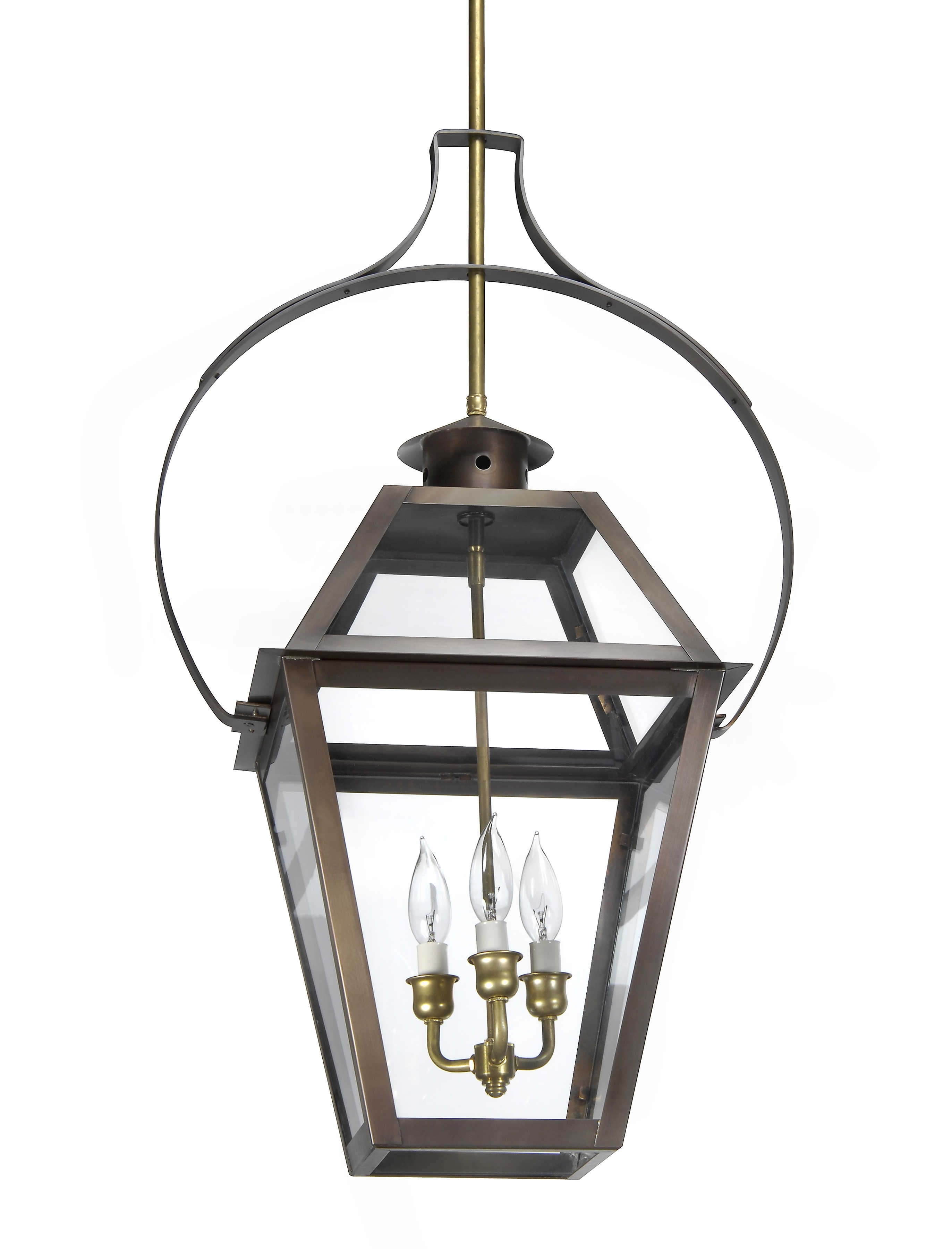 Charleston Collection | Ch-23 Hanging Yoke Light– Lantern & Scroll with regard to Copper Outdoor Electric Lanterns (Image 2 of 20)