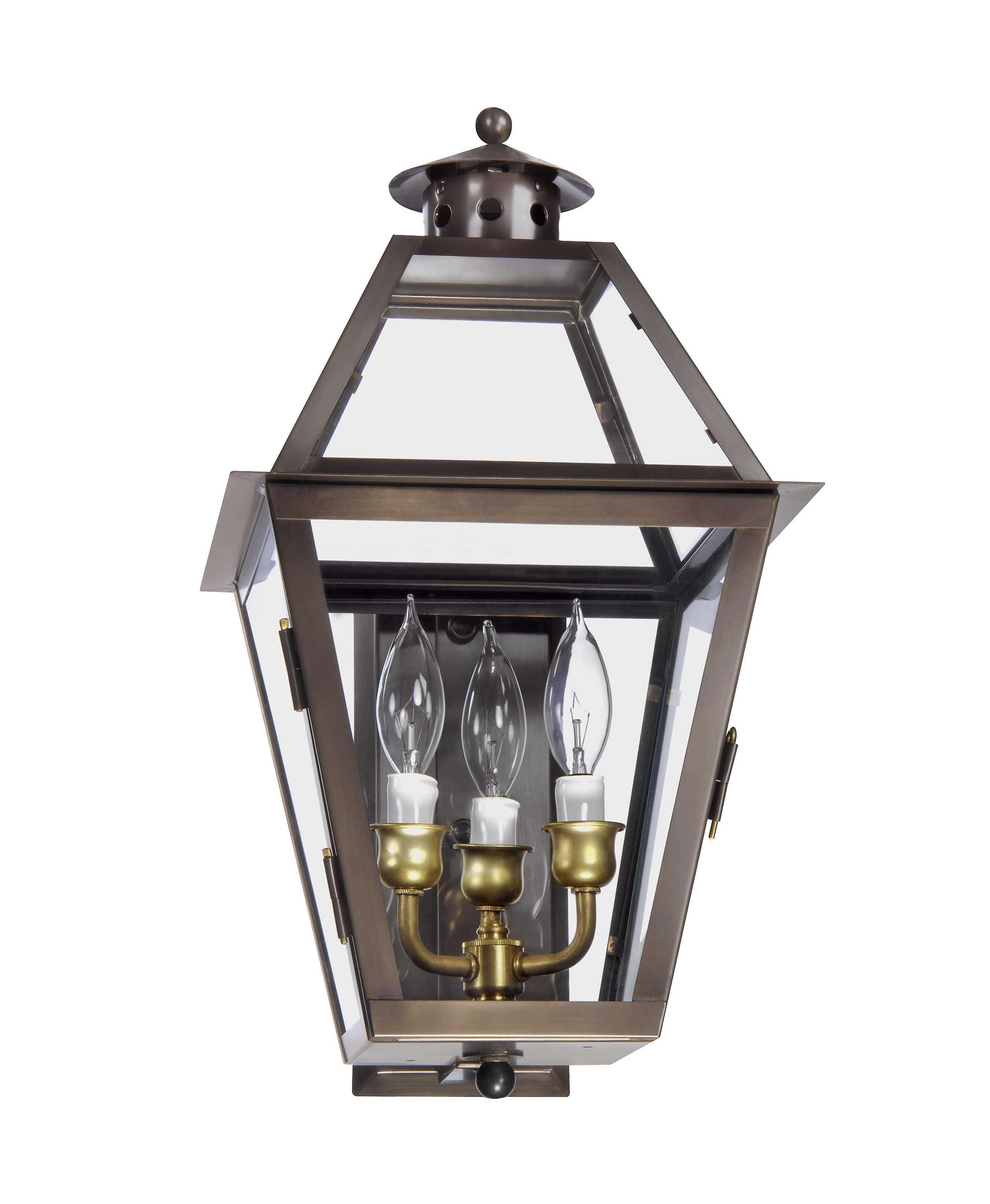 Charleston Collection | Ch 27 Wall Mount Gas Lantern – Lantern & Scroll Regarding Outdoor Electric Lanterns (View 4 of 20)