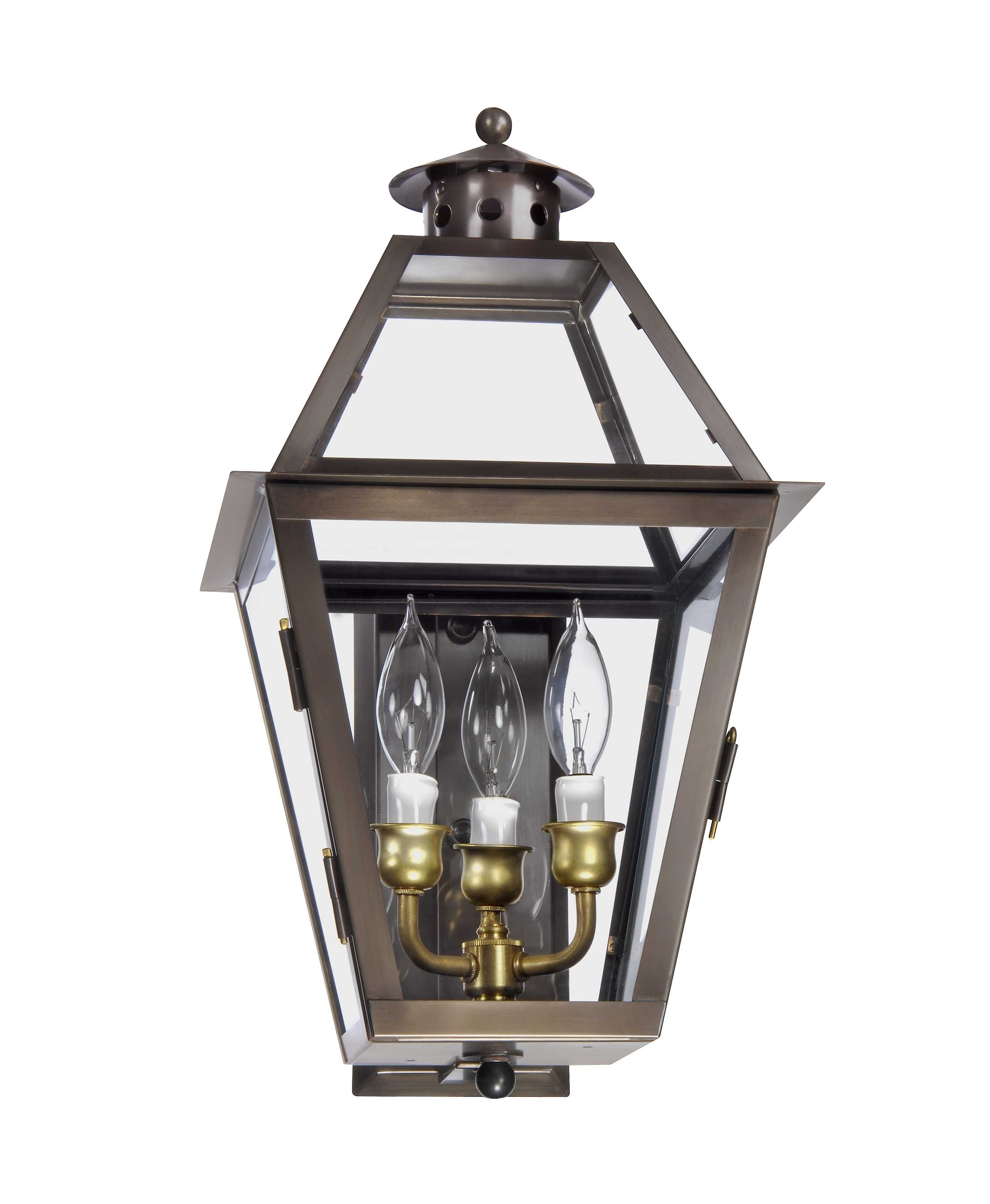 Charleston Collection | Ch 27 Wall Mount Gas Lantern – Lantern & Scroll With Regard To Copper Outdoor Lanterns (View 3 of 20)