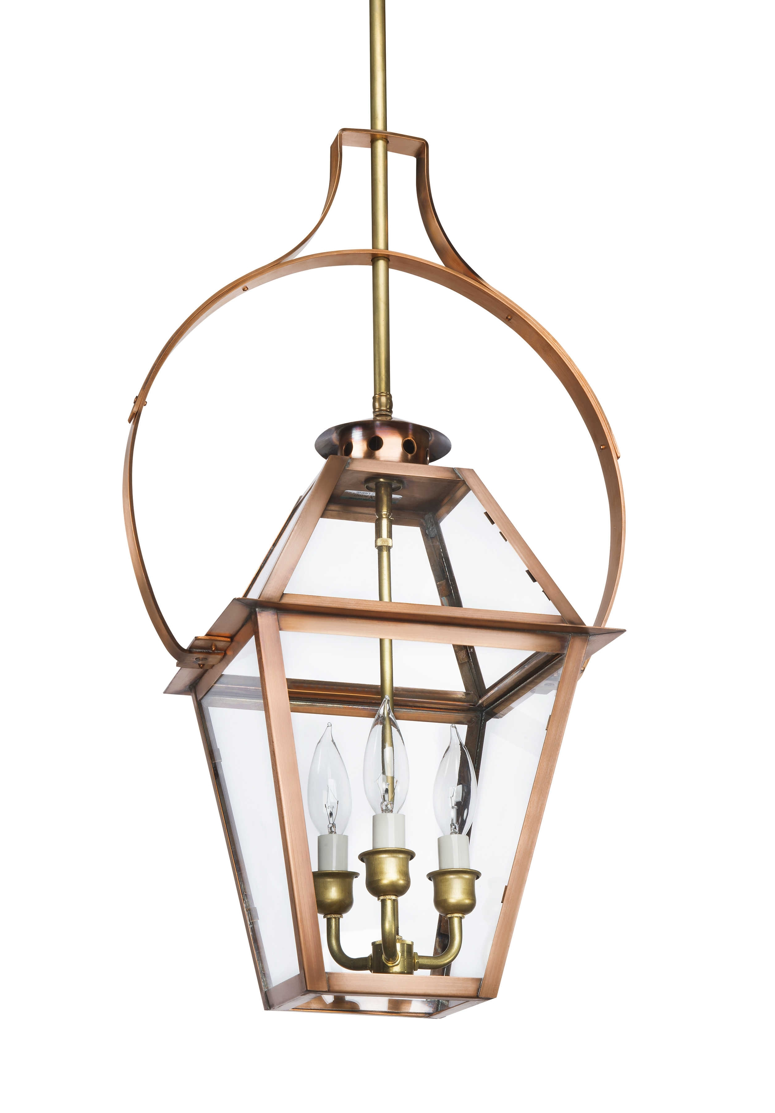 Charleston Collection | Ch-29 Yoke Copper Light – Lantern & Scroll with Copper Outdoor Electric Lanterns (Image 4 of 20)