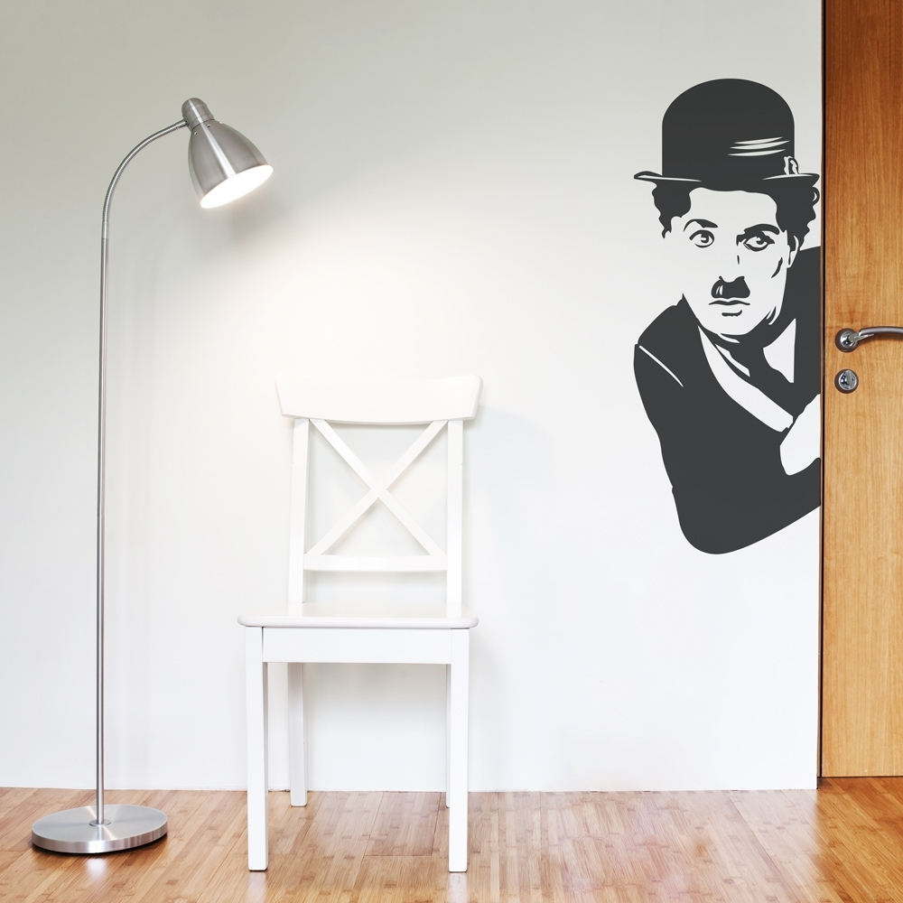 Charlie Chaplin Wall Art Decal regarding Corner Wall Art (Image 4 of 20)