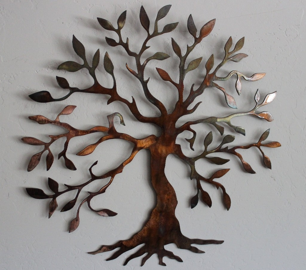 Charming Tree Metal Wall Art Decor Sculpture Design~ Popular Home Pertaining To Cheap Metal Wall Art (View 3 of 20)