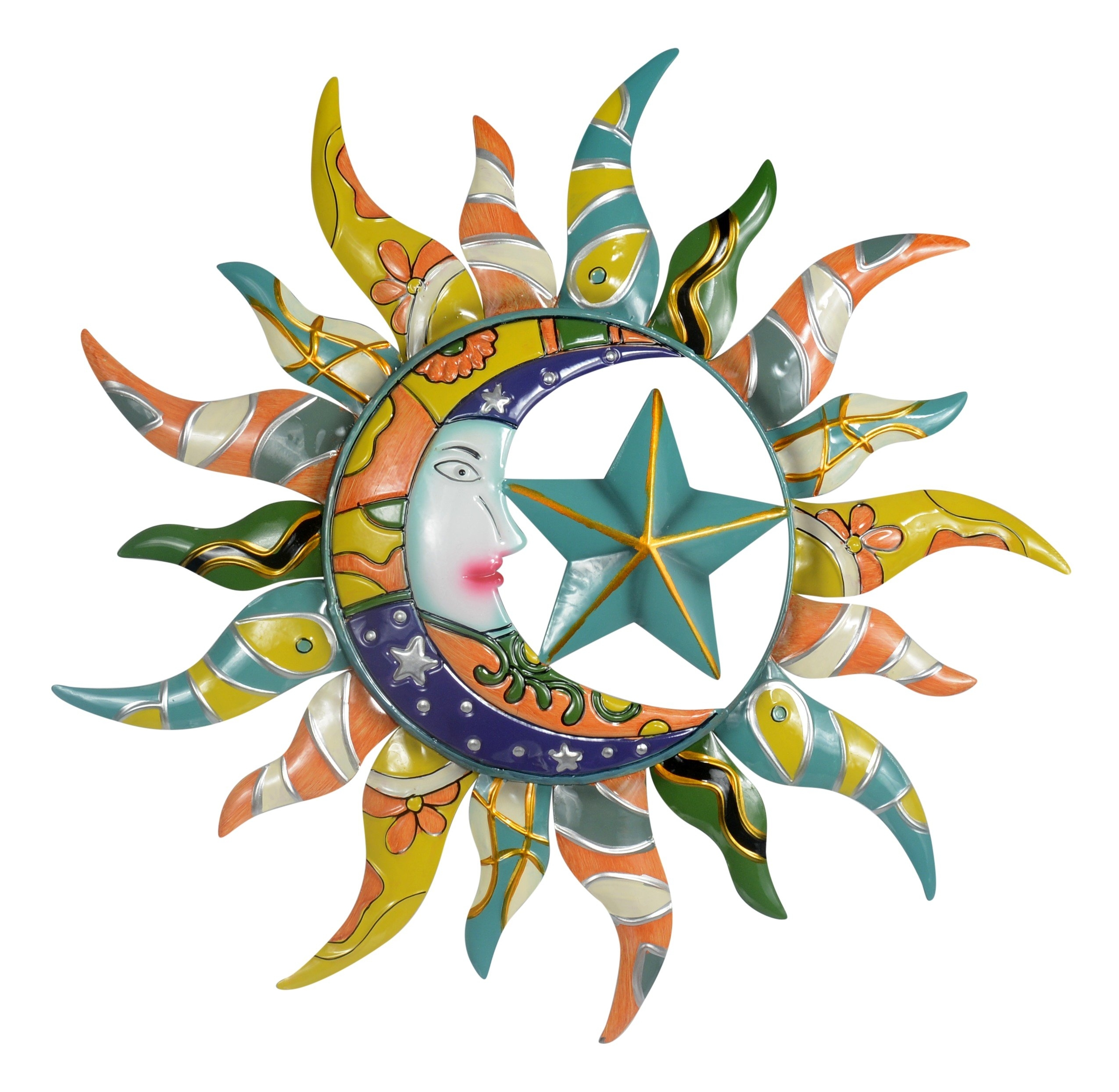Cheap Sun Wall Art Metal, Find Sun Wall Art Metal Deals On Line At with Sun and Moon Metal Wall Art (Image 10 of 20)