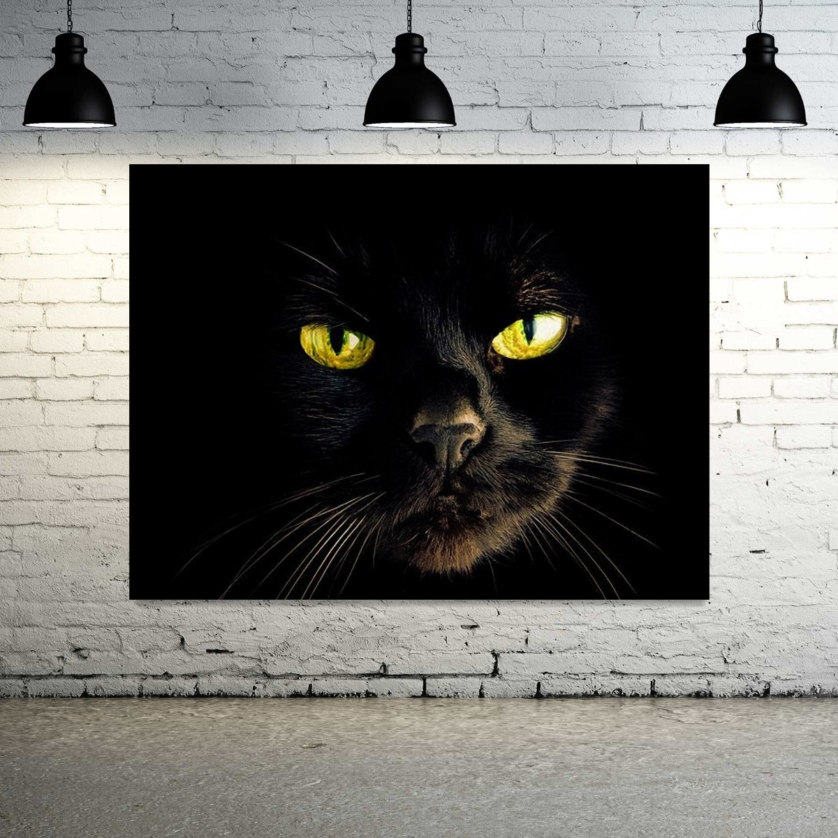 Cheap Wall Canvas Art Elegant Black Cat Canvas Wall Art – Mehrgallery for Cat Canvas Wall Art (Image 11 of 20)