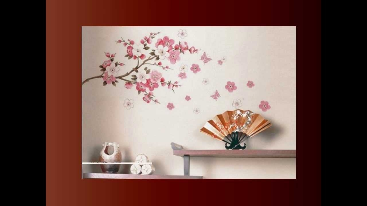 Cherry Blossom Wall Art - Youtube with regard to Cherry Blossom Wall Art (Image 9 of 20)