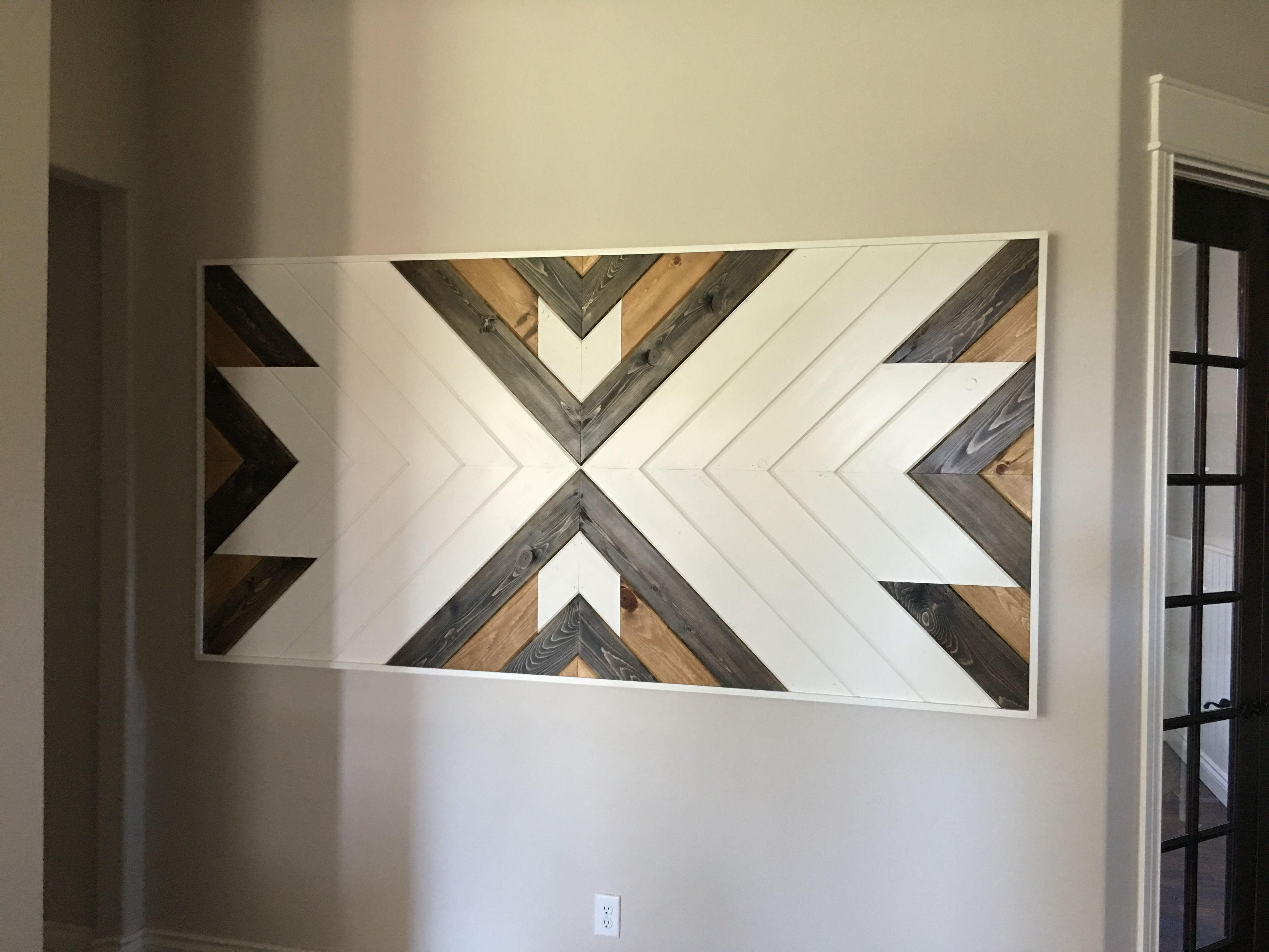 Chevron Wall Art Made From V Groove (View 6 of 20)