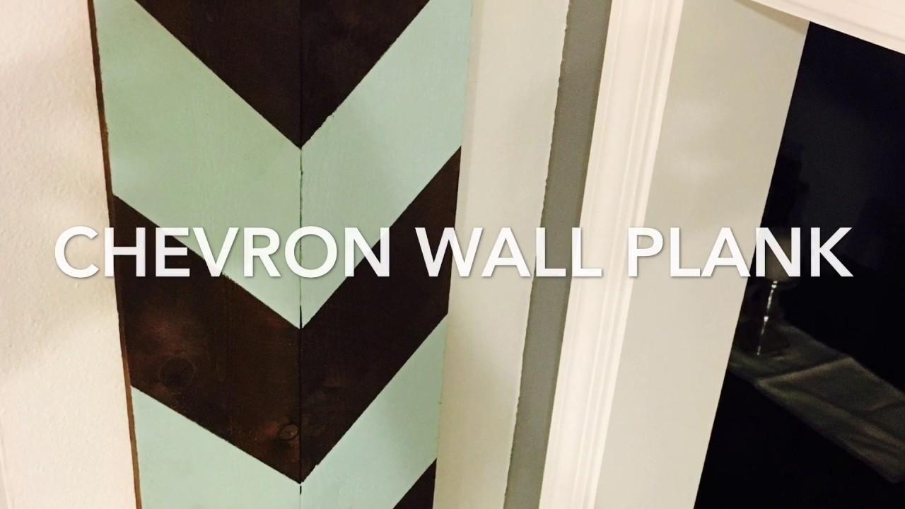 Chevron Wall Art Wall Plank Diy Pallet – Youtube For Chevron Wall Art (View 7 of 20)