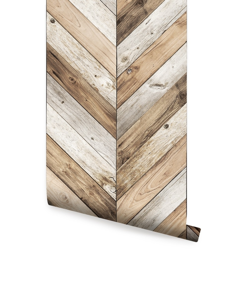 Chevron Wood Herringbone Wallpaper - Peel And Stick, Chevron Wall with Chevron Wall Art (Image 12 of 20)