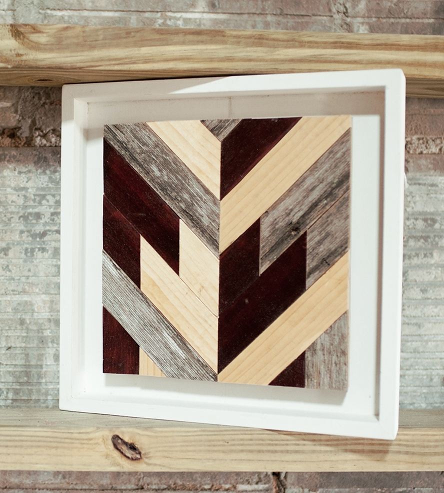 Chevron Wood Wall Art Square Art Art Pieces Goodhand, Chevron Wall within Chevron Wall Art (Image 15 of 20)