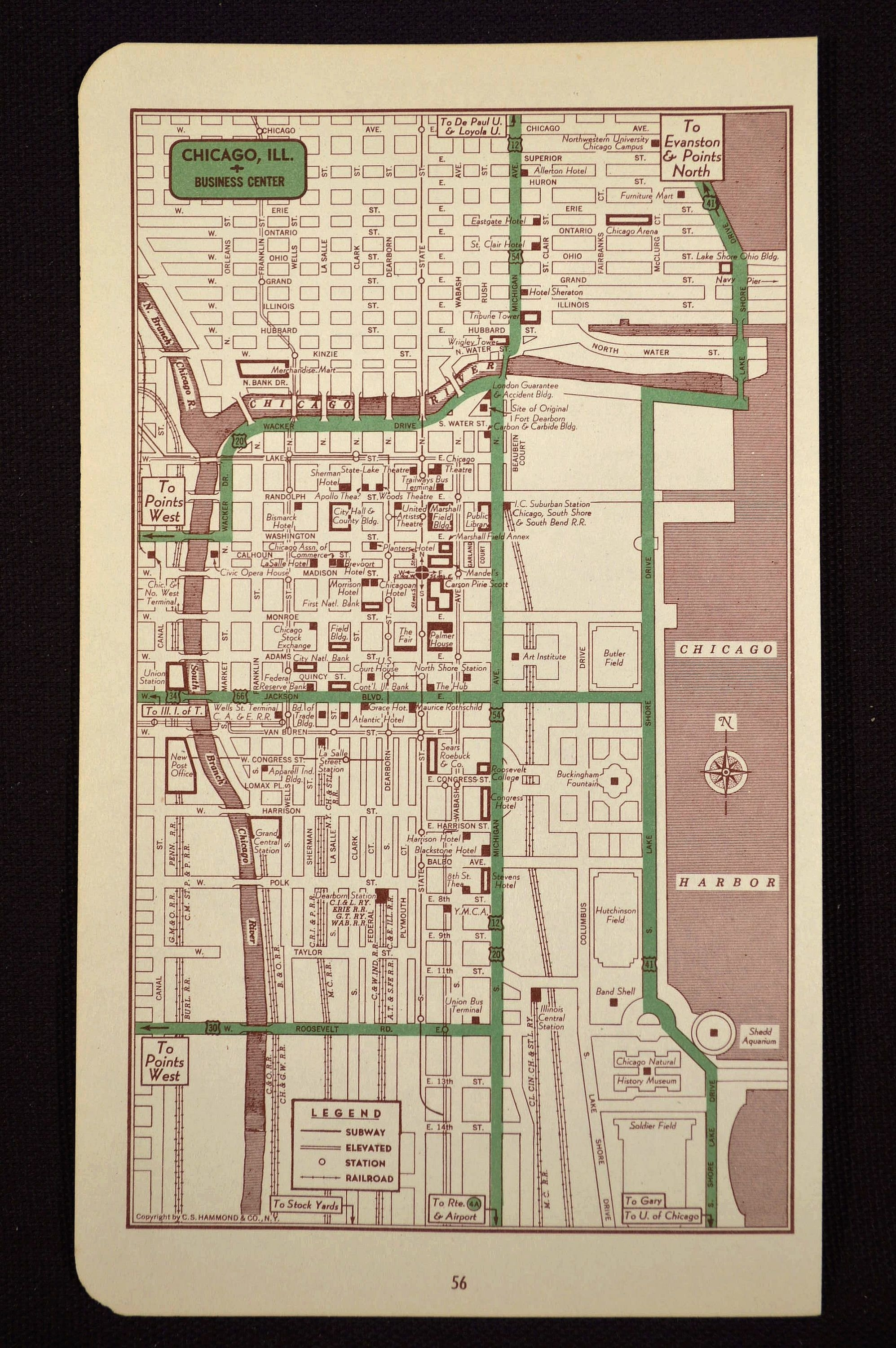 Chicago Map Chicago Street Map Illinois Wall Art Original | Map Wall for Chicago Map Wall Art (Image 6 of 20)