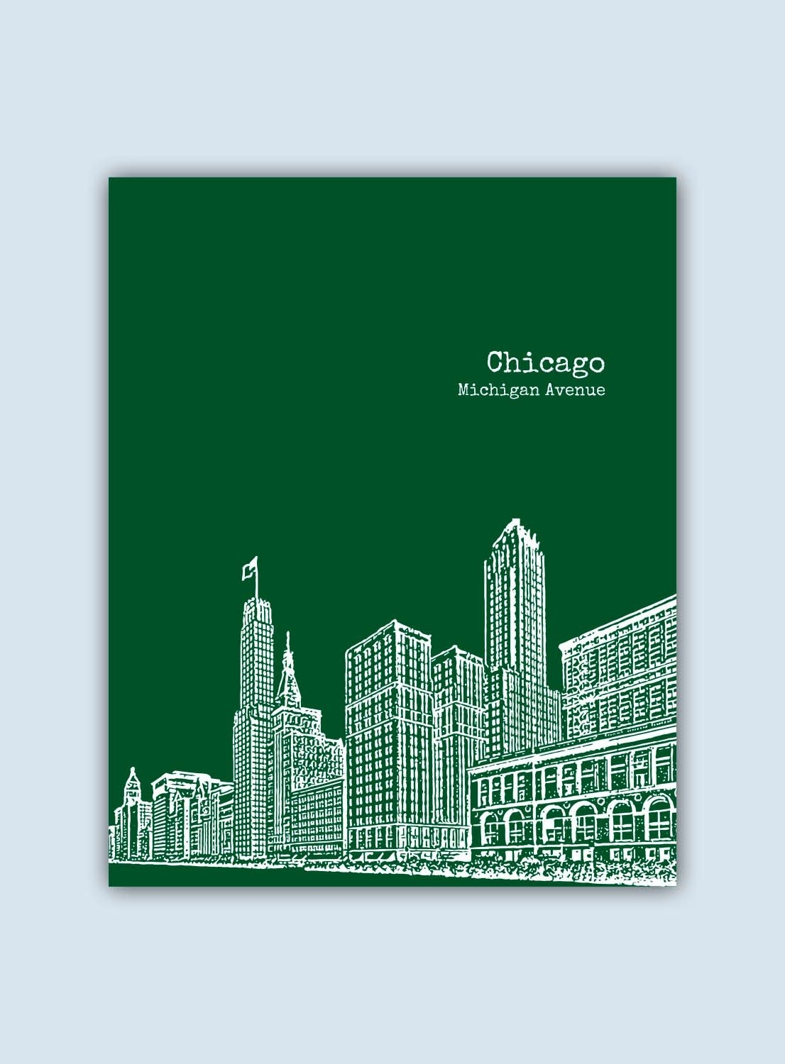 Chicago Print, Chicago Wall Art, Chicago Skyline, Wedding Gift throughout Chicago Wall Art (Image 7 of 20)