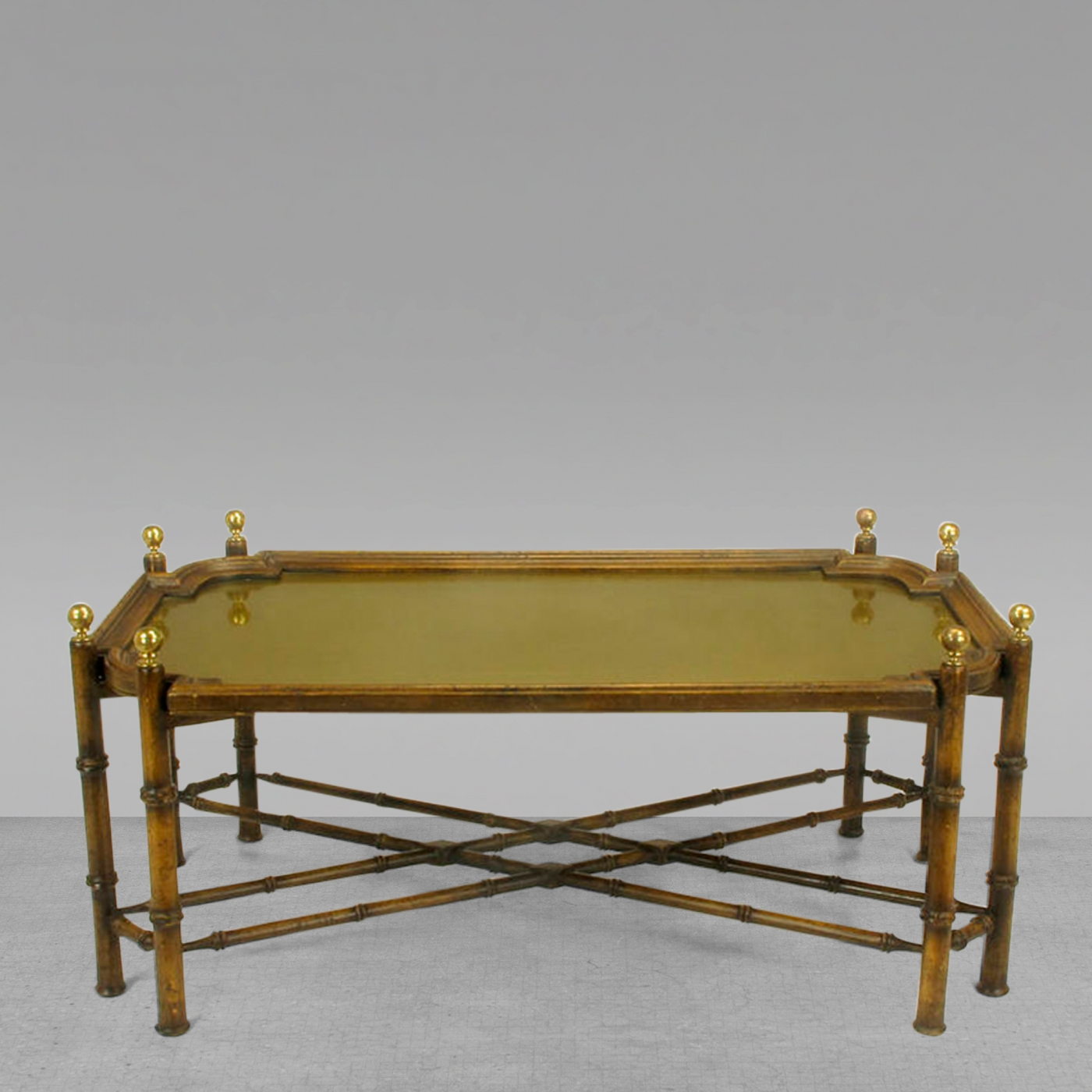 Chinese Chippendale Spanish Made Coffee Table With Removable Brass Intended For Spanish Coffee Tables (View 7 of 30)