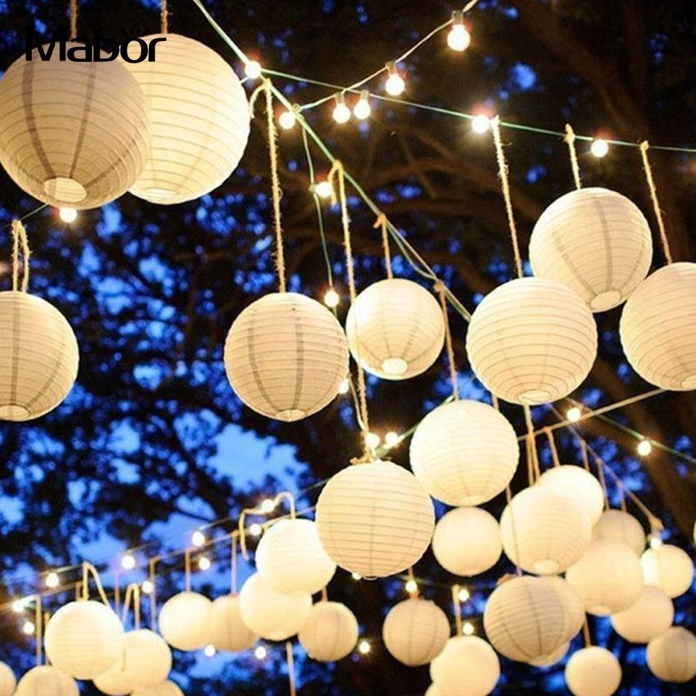 Chinese Lantern Classic Lantern Outdoor Paper Lantern Party Decor With Regard To Outdoor Paper Lanterns (View 2 of 20)