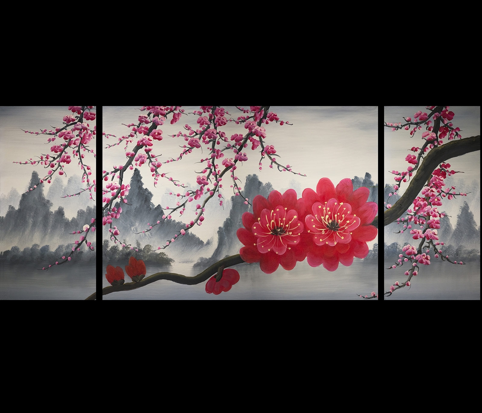 Chinese Wall Art Painting Modern Chinese Wall Art Painting intended for Chinese Wall Art (Image 11 of 20)