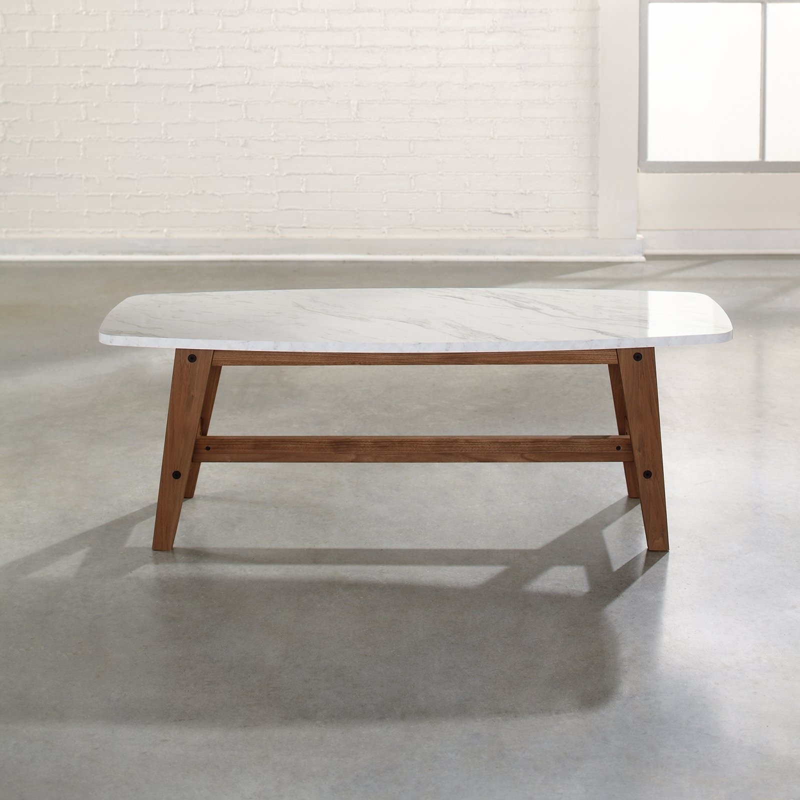 Choose The Best White Marble Coffee Table — The Home Redesign within Mid-Century Modern Marble Coffee Tables (Image 6 of 30)