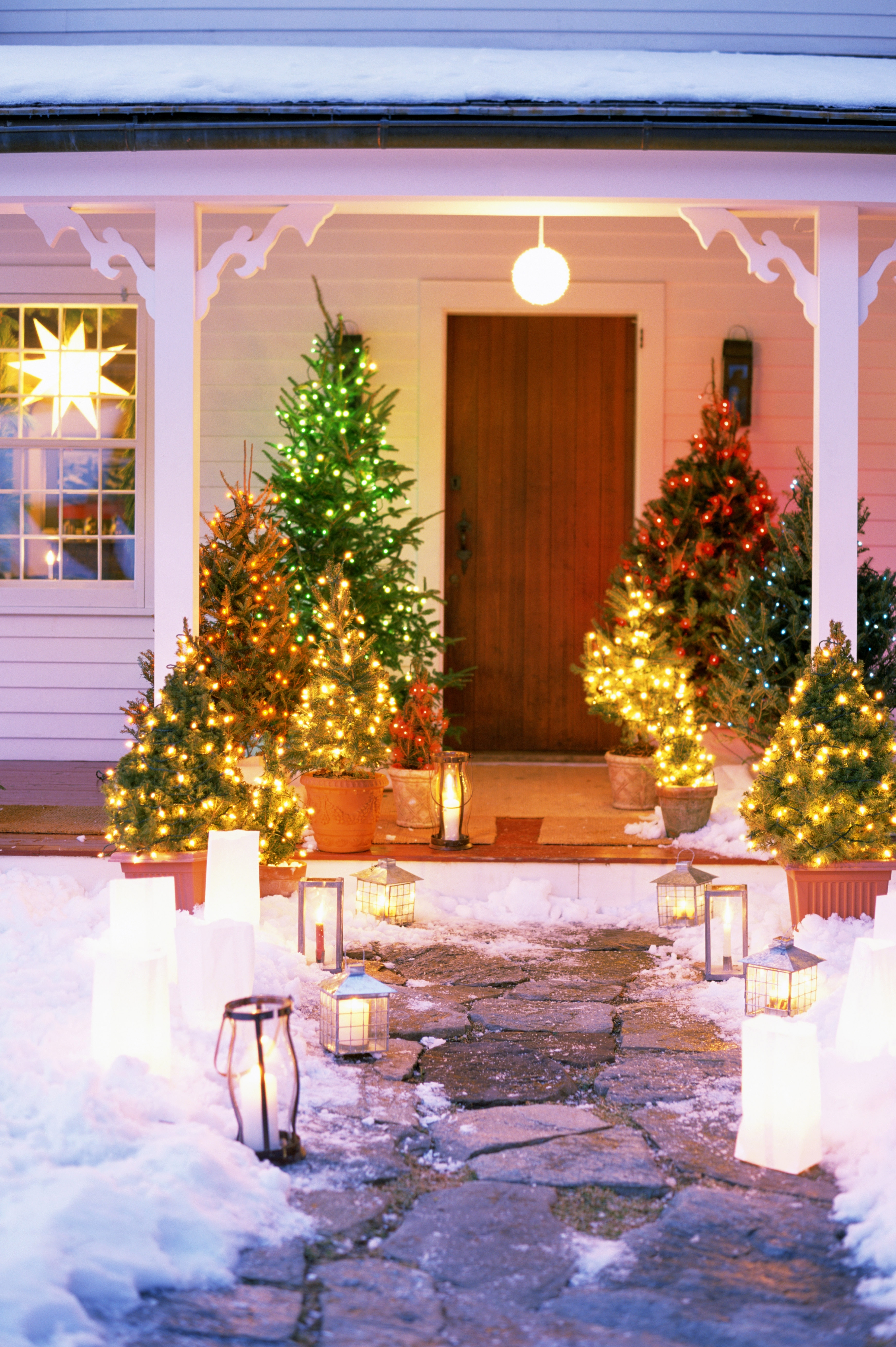 Christmas Exterior Lighting Ideas Lightingchristmas Marvelous intended for Outdoor Holiday Lanterns (Image 10 of 20)