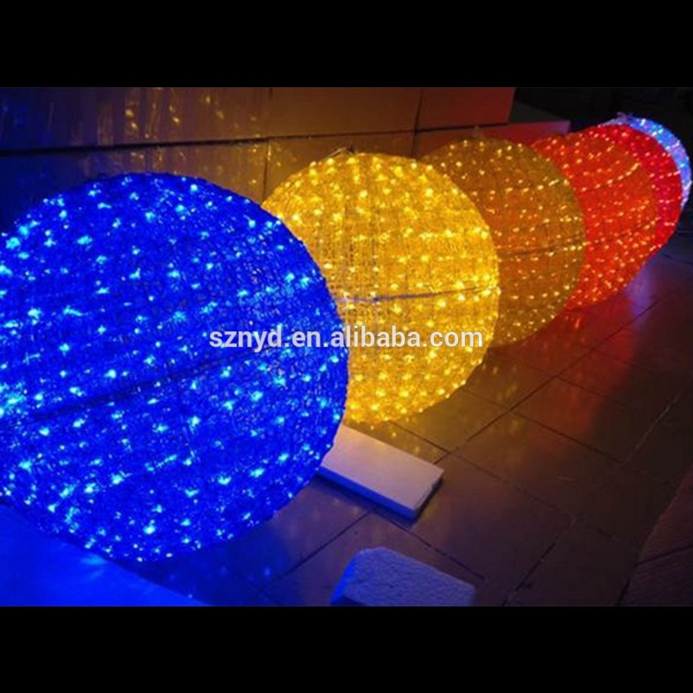 Christmas Outdoor Ball Lights - Democraciaejustica in Outdoor Ball Lanterns (Image 3 of 20)