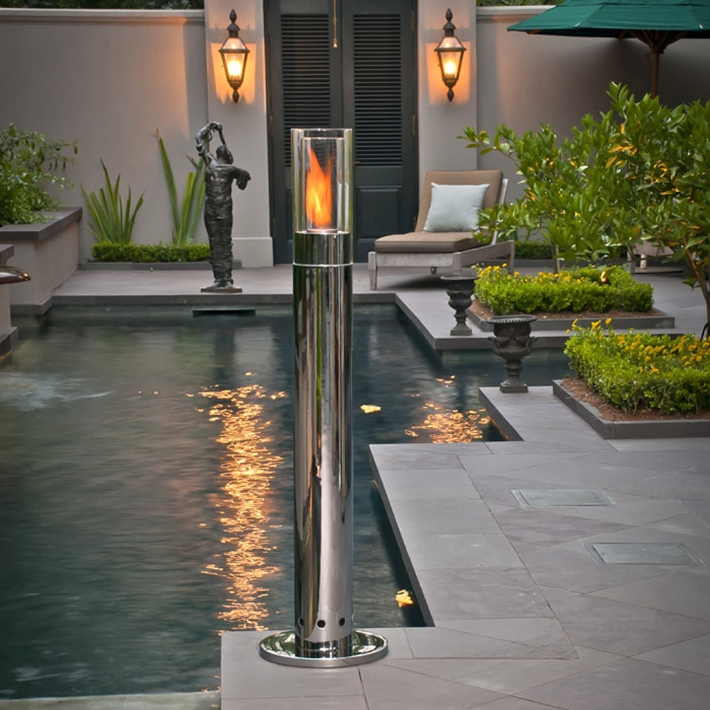 Chrome Outdoor Lighting - Outdoor Lighting Ideas inside Outdoor Lanterns for Pillars (Image 4 of 20)