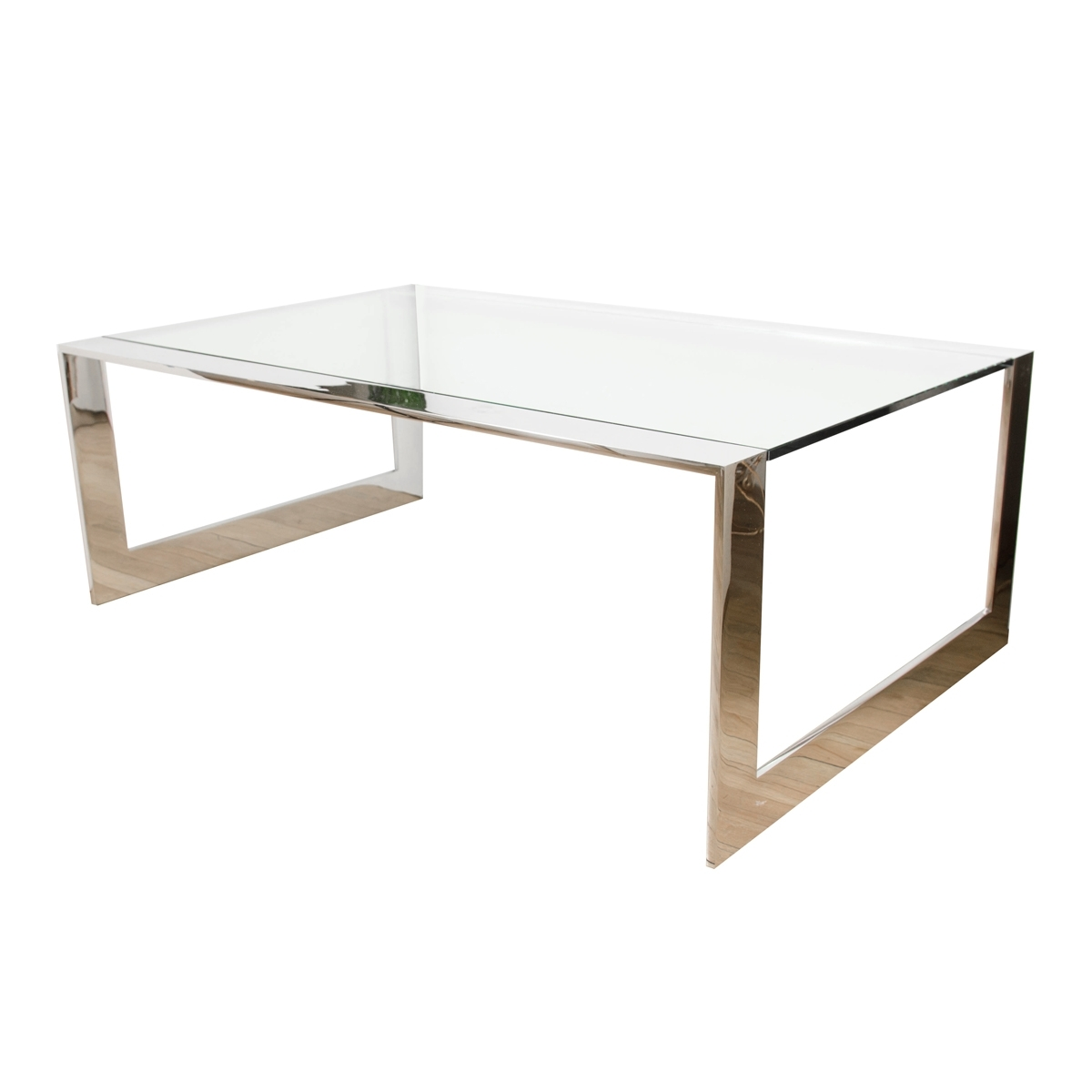 Chrome Waterfall Coffee Table With Glass Top | Coffee Tables | John inside Waterfall Coffee Tables (Image 5 of 30)