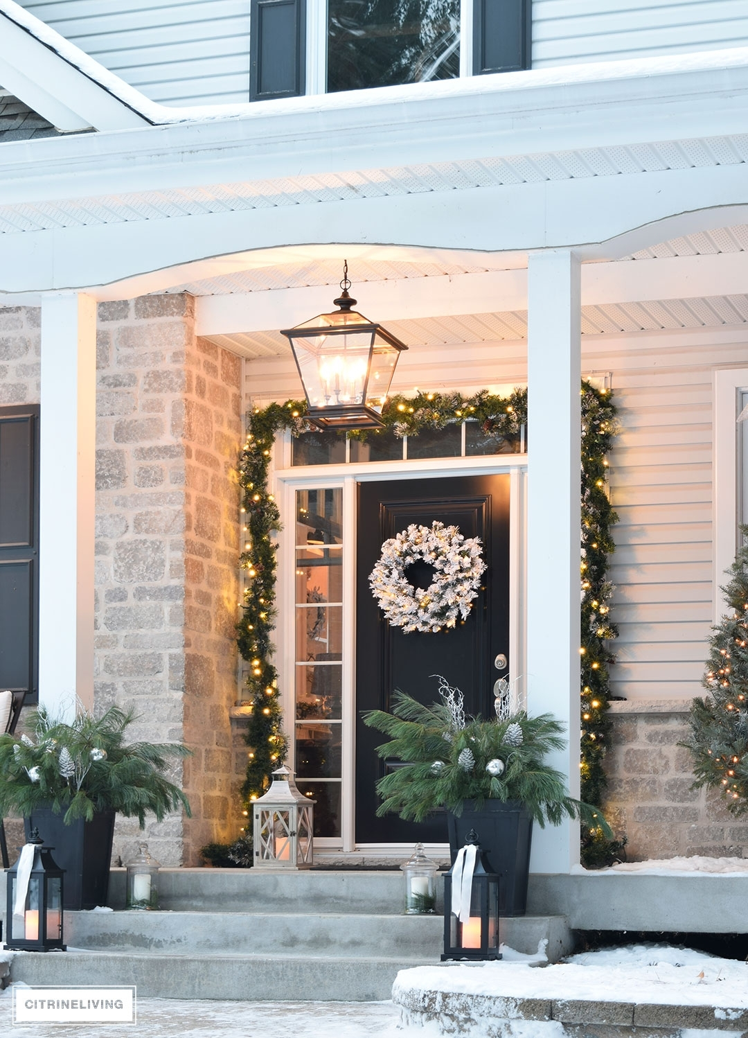 Citrineliving -Outdoor Christmas Decor And New Lighting throughout Outdoor Lanterns for Front Porch (Image 3 of 20)