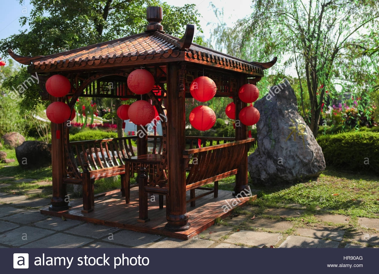 Classic Chinese Gazebo With Lanterns At Fo Guang Shan Temple Stock pertaining to Outdoor Gazebo Lanterns (Image 7 of 20)